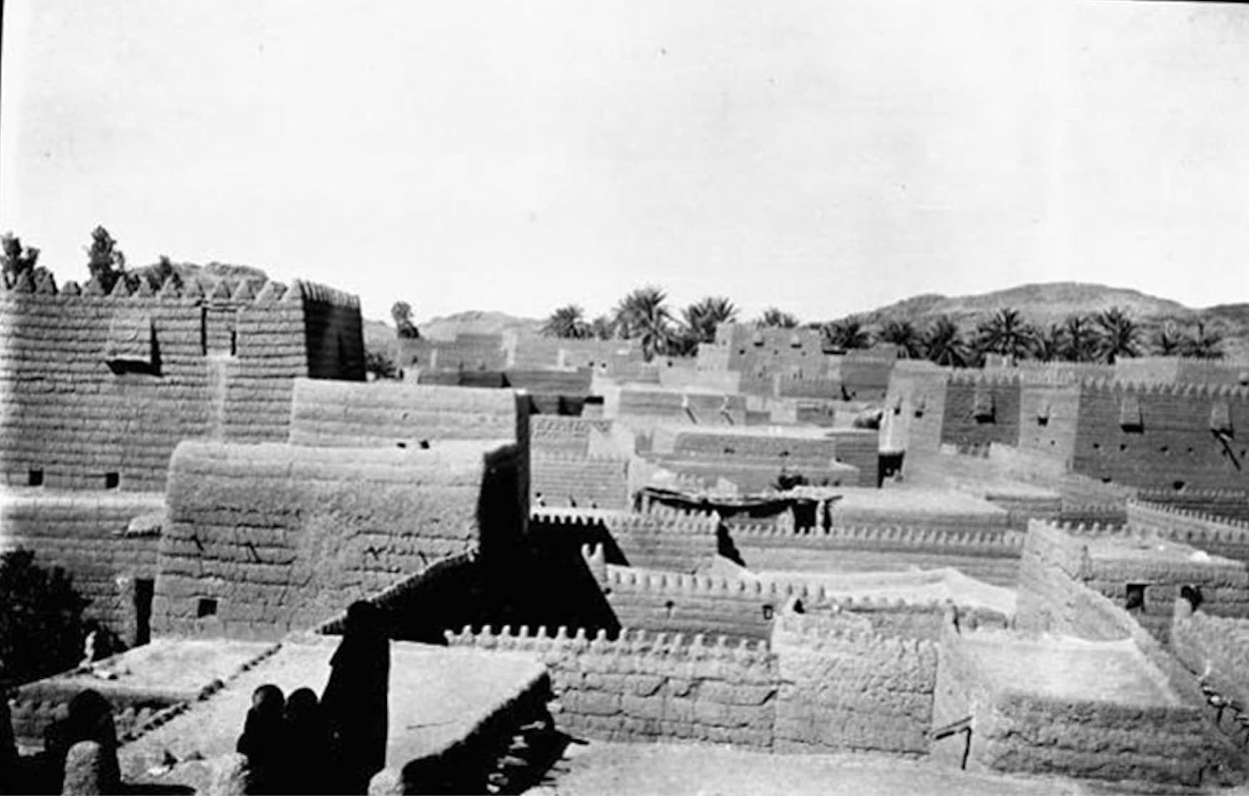 صورة تبرز مدينة حائل في عام 1914