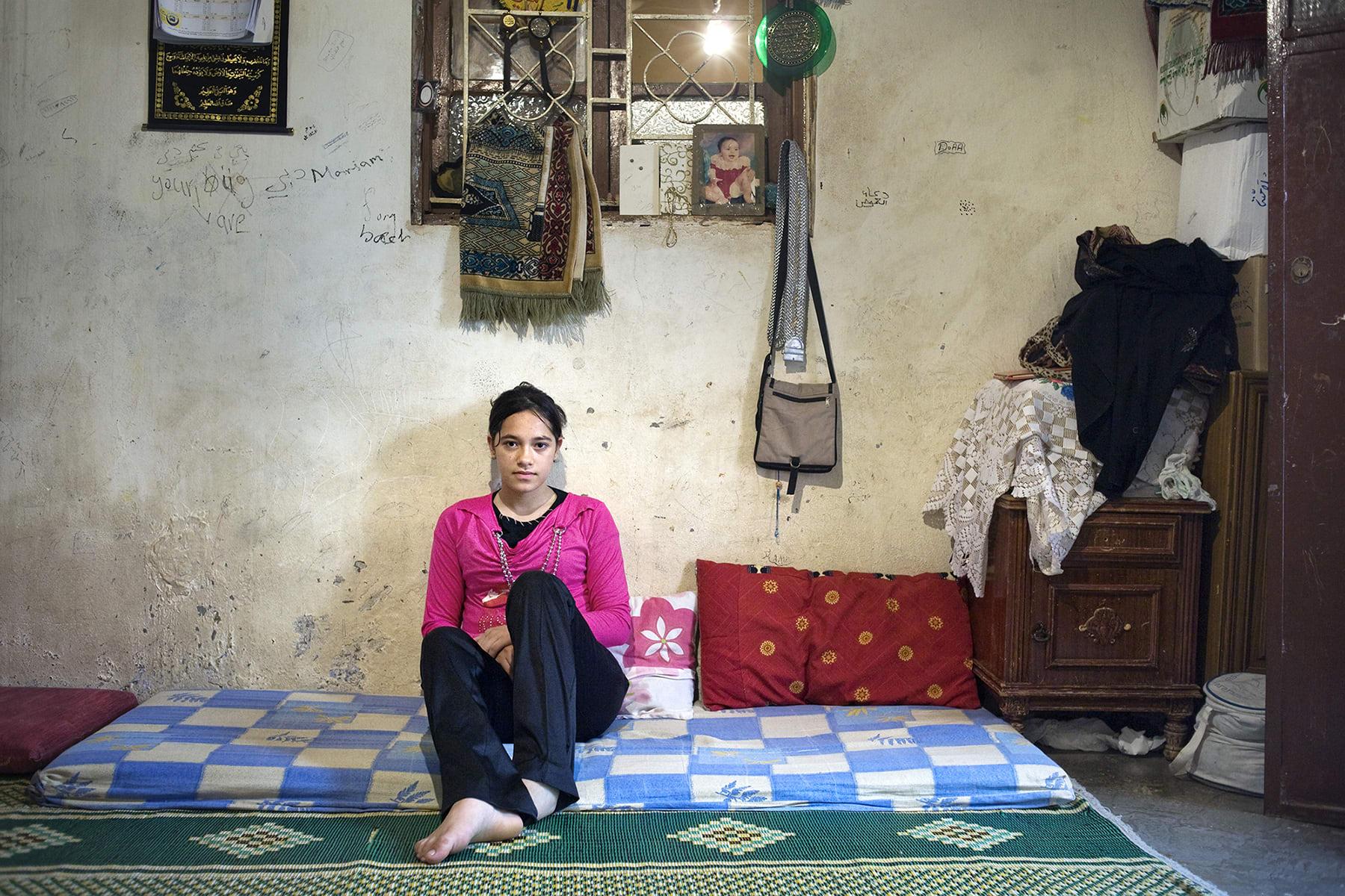مريم، مخيم البرج الشمالي للاجئين الفلسطينيين، لبنان، 2009.