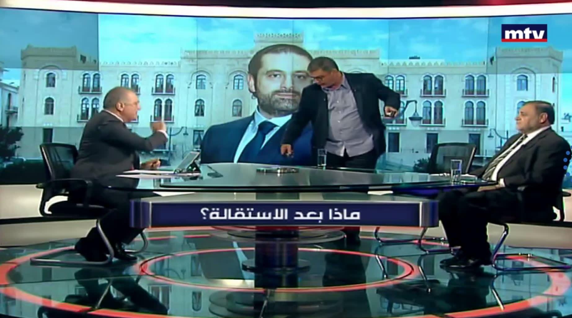 شاهد.. الإعلامي وليد عبود يطرد محللاً مقرباً من حزب الله استخدم كلمات نابية بحق الوزير السعودي ثامر السبهان