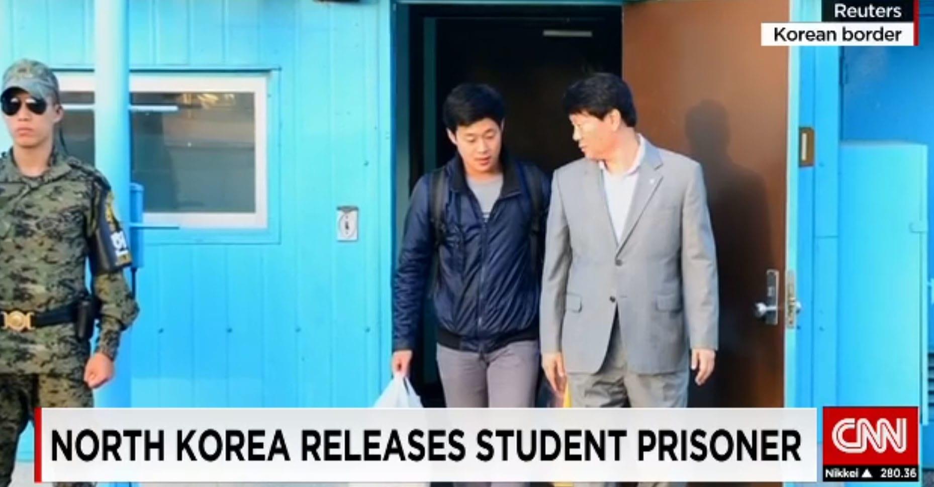 """كوريا الشمالية تفرج عن طالب من جارتها الجنوبية سعى إلى """"التأثير على العلاقات"""""""