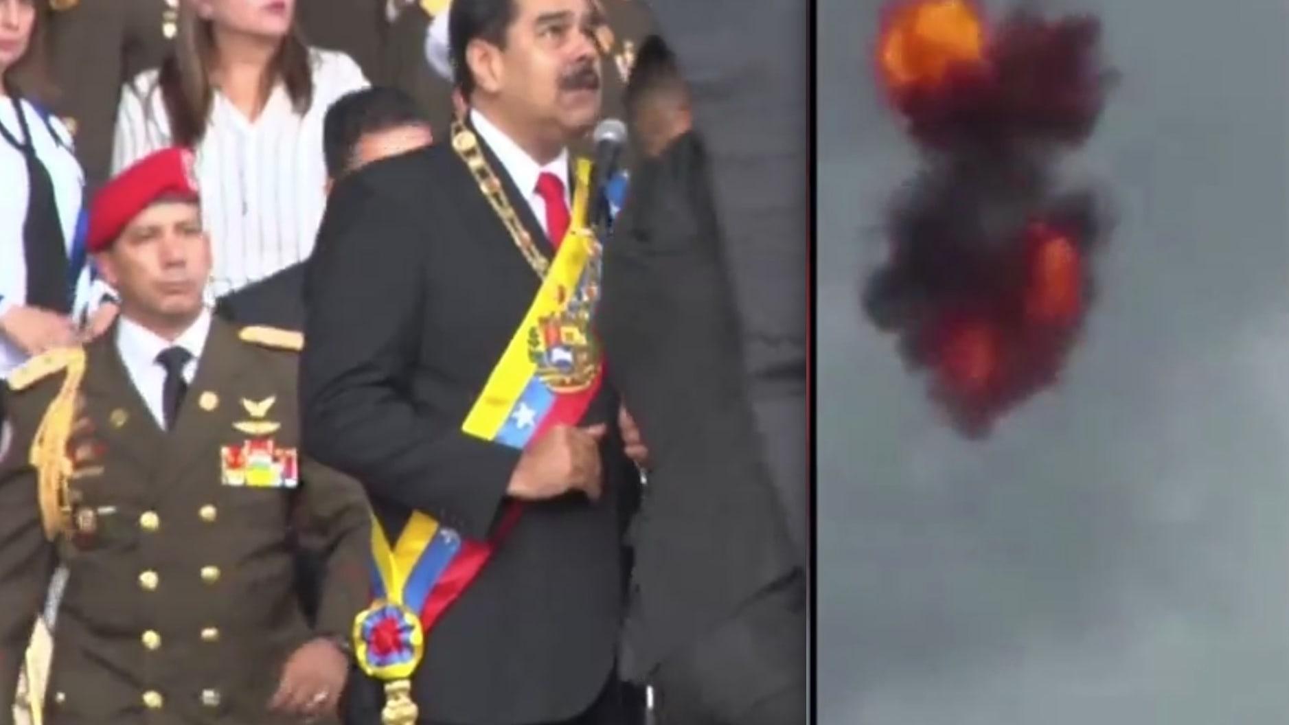 مشاهد حصرية تعرض لأول مرة لمحاولة اغتيال رئيس فنزويلا