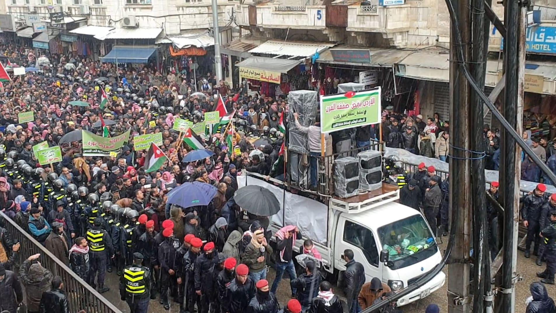 مسيرات احتجاجية في الأردن