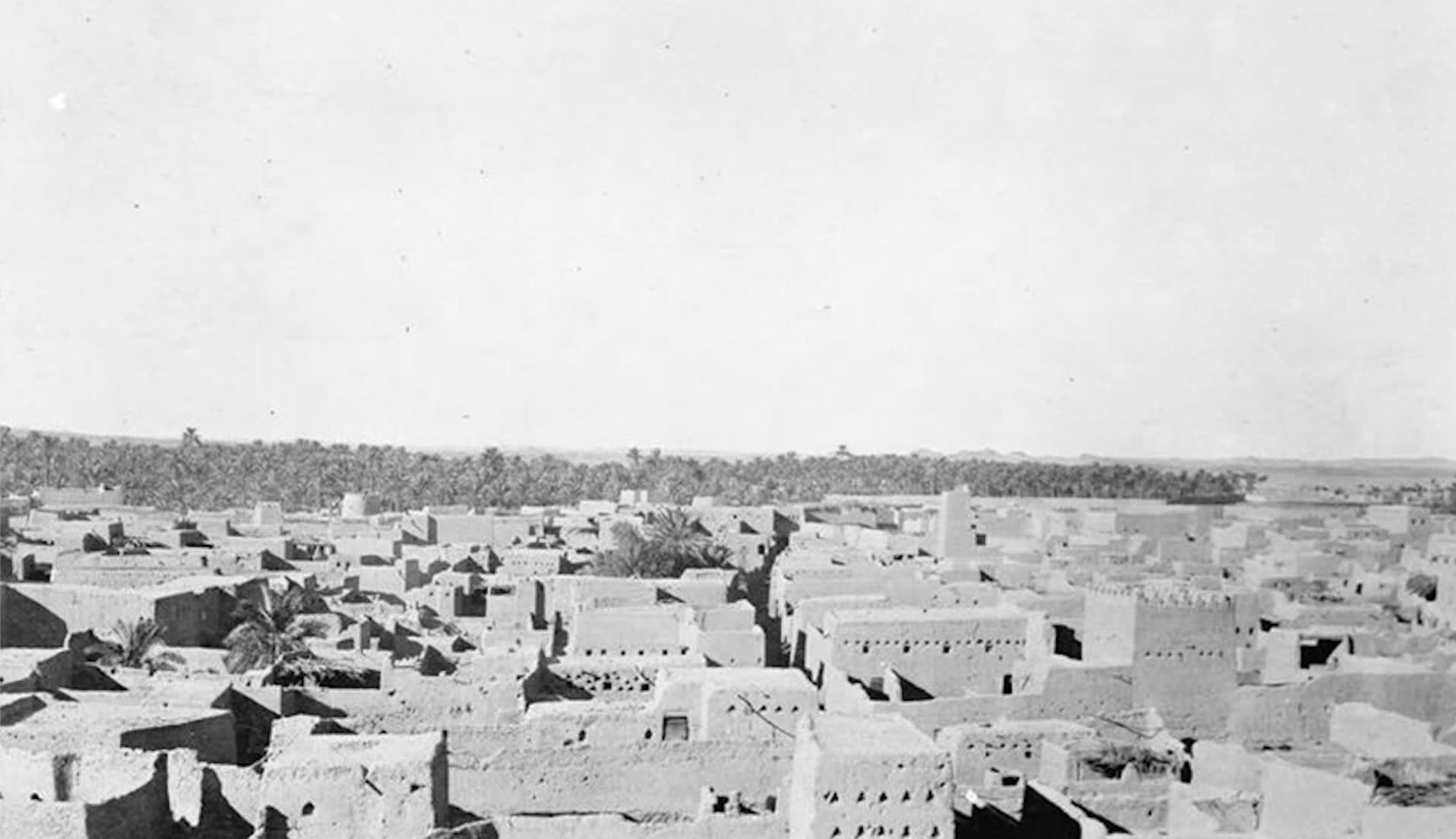 صورة تعكس محافظة الوجه على ساحل البحر الأحمر في عام 1917