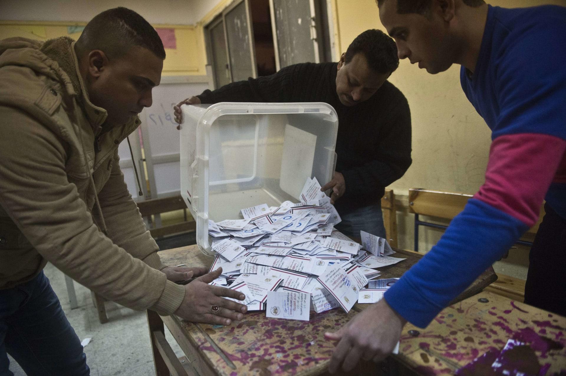 مصر نتائج فرز الأصوات المشاركة بالاستفتاء