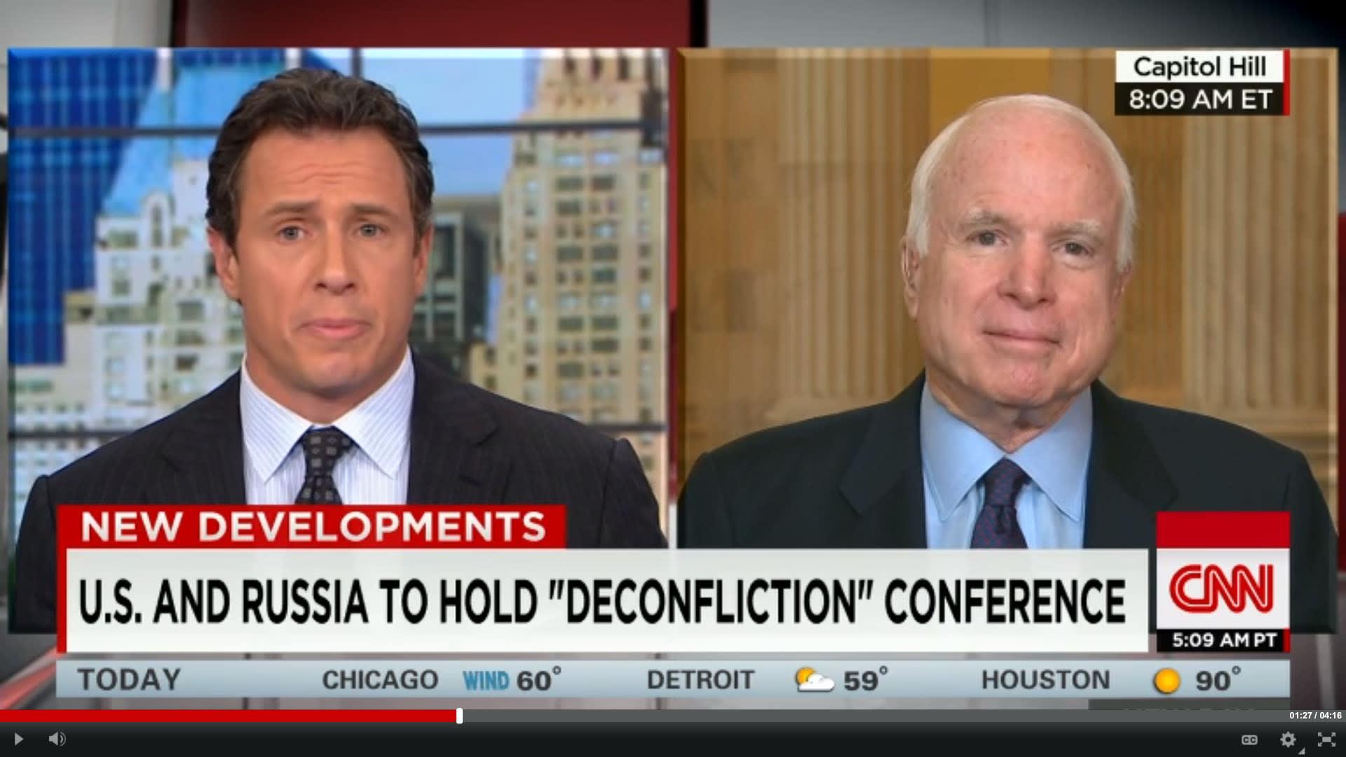 جون ماكين: دونالد ترامب لا يفهم سوريا