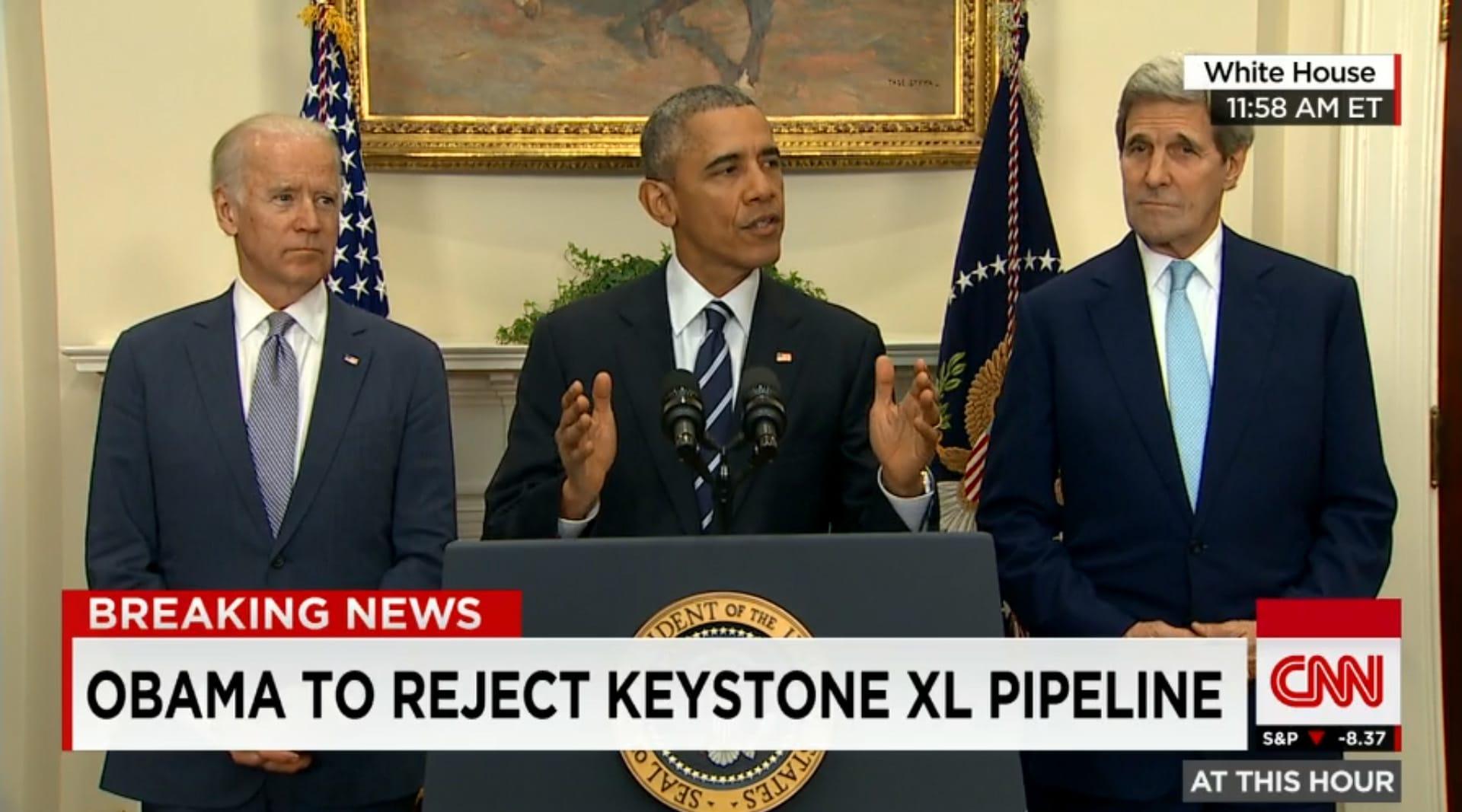أوباما يرفض خط أنابيب نفط من كندا.. ويؤكد: الموافقة عليه تقوض قيادة أمريكا لمكافحة تغير المناخ
