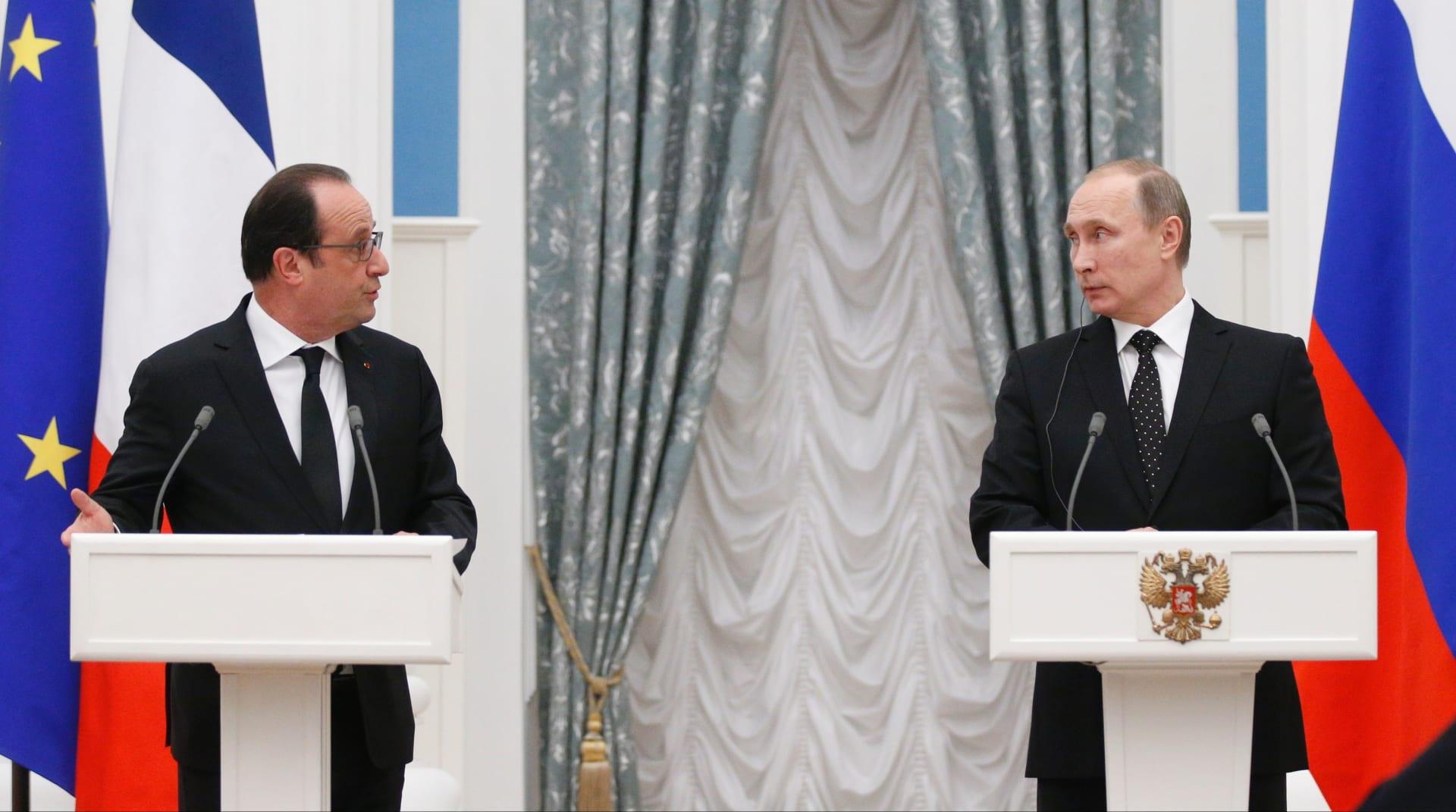 """بوتين: كنا نعتبر تركيا دولة صديقة.. وهولاند: من الضروري تجنب أي تصعيد ومحاربة """"داعش"""" هي الأولوية"""