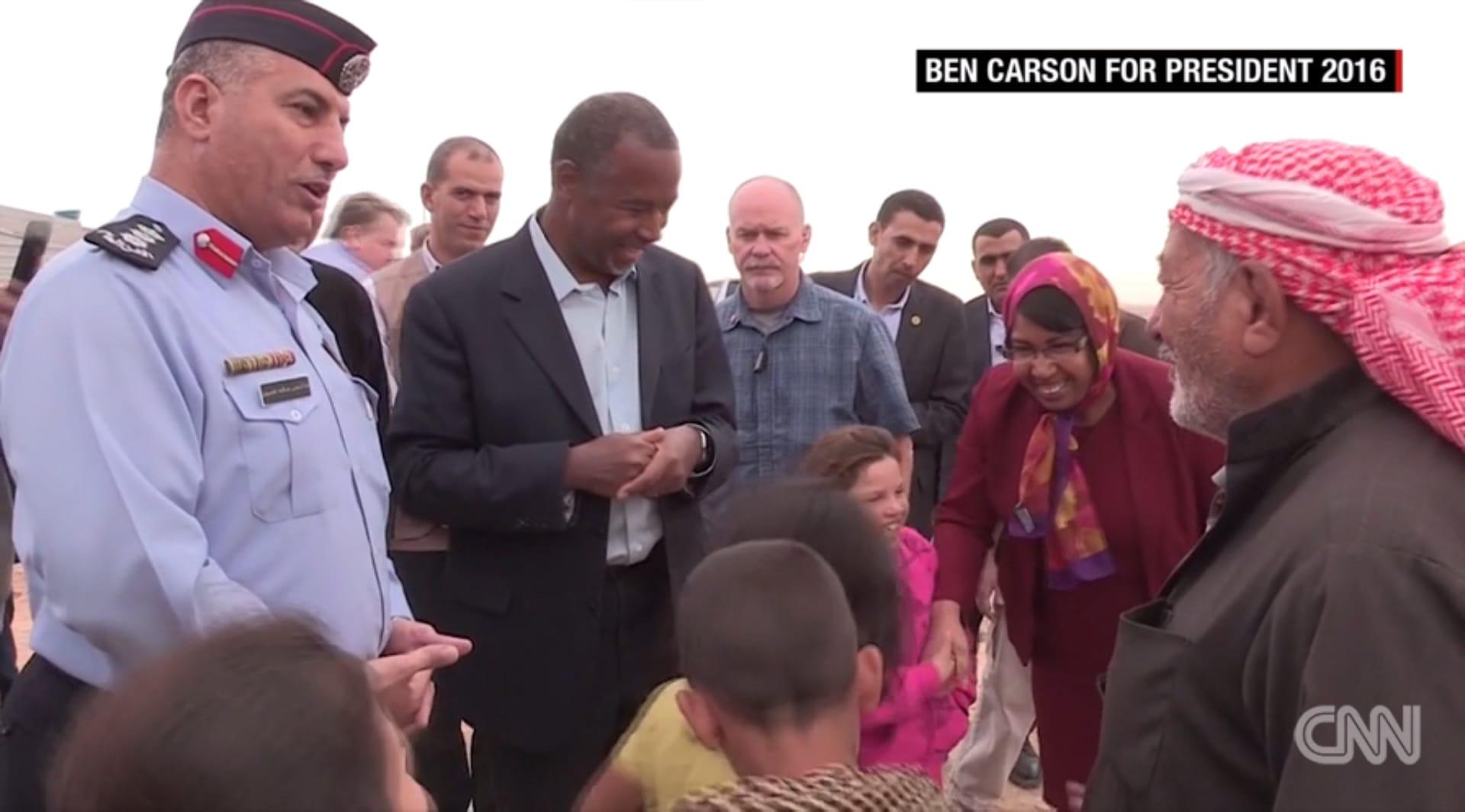 """بن كارسون: اللاجئون السوريون يريدون البقاء في بلدهم.. وبعض المخيمات """"في الحقيقة لطيفة جدا"""""""