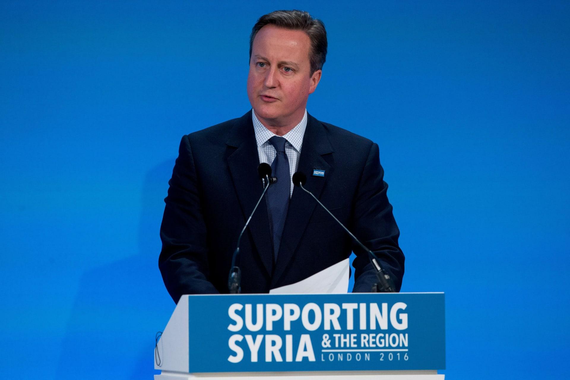 كاميرون: جمعنا أكثر من 11.2 مليار دولار في يوم واحد من أجل الأزمة السورية