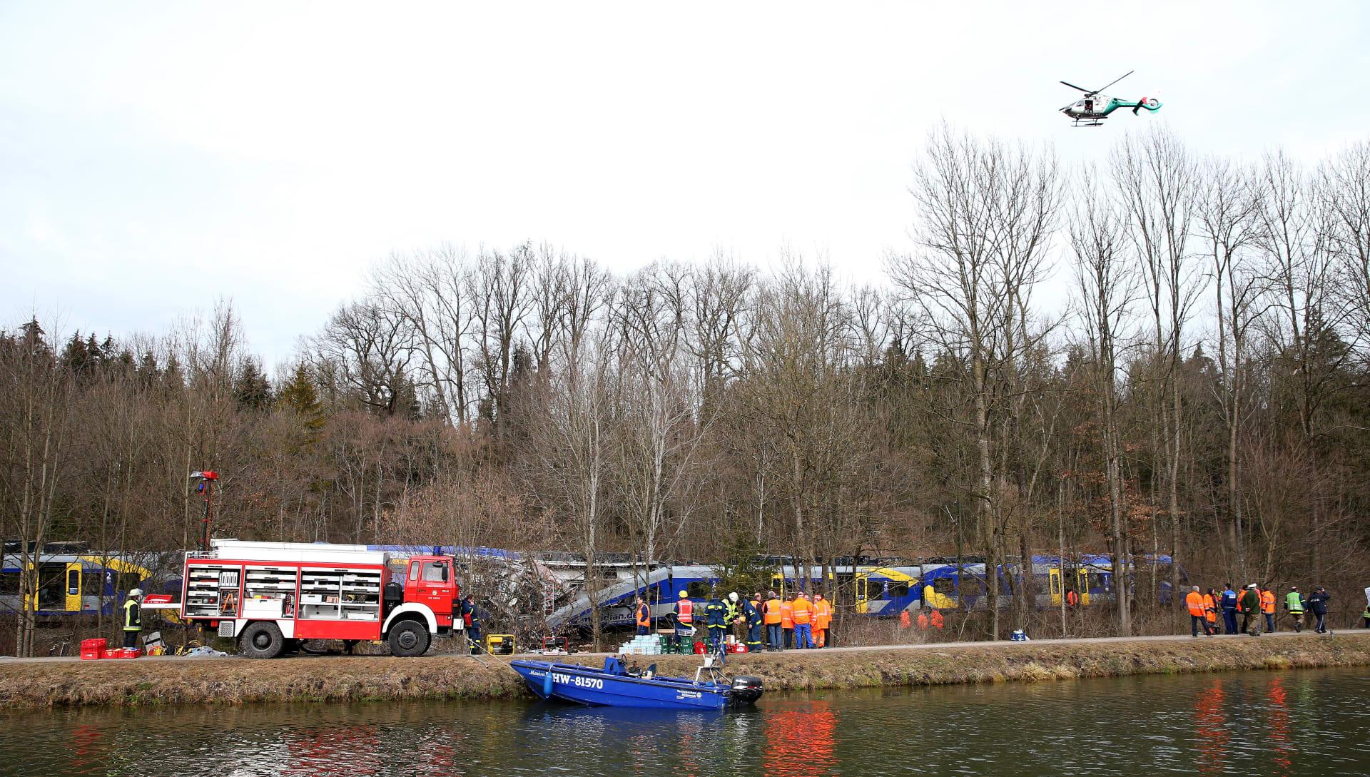 ألمانيا: ارتفاع عدد قتلى حادث تصادم القطارين إلى 10 وإصابة 63 آخرين بجروح