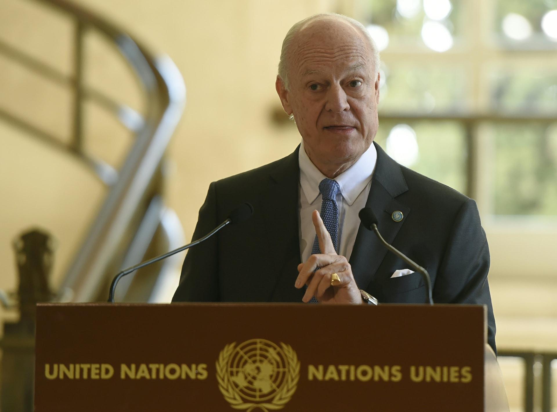 دي ميستورا: سحب القوات الروسية في يوم استئناف المفاوضات تطور هام للتوصل إلى الانتقال السياسي في سوريا