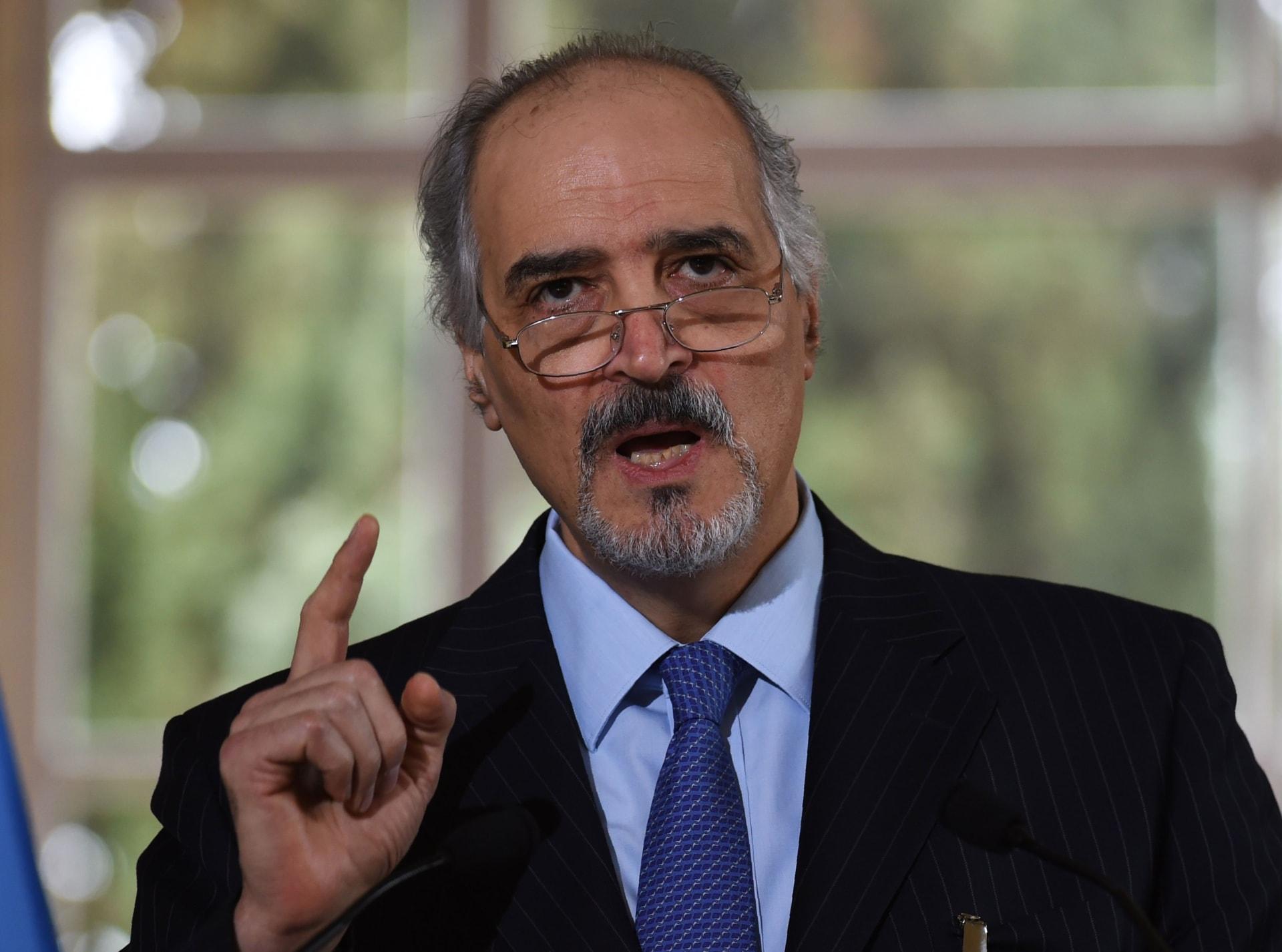 الجعفري من جنيف: لا يحق لأحد احتكار تمثيل المعارضة ونتعامل مع عدة معارضات وليس واحدة