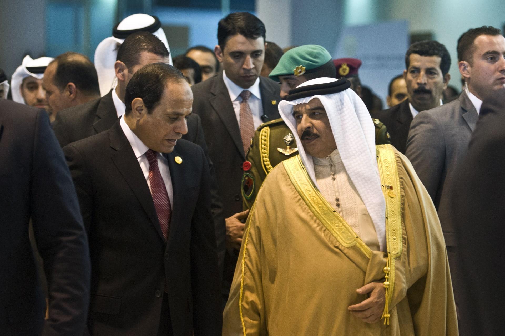"""ثالث زيارة لقائد خليجي لمصر خلال 19 يوما.. ملك البحرين إلى القاهرة لـ""""دعم التعاون الثنائي"""""""