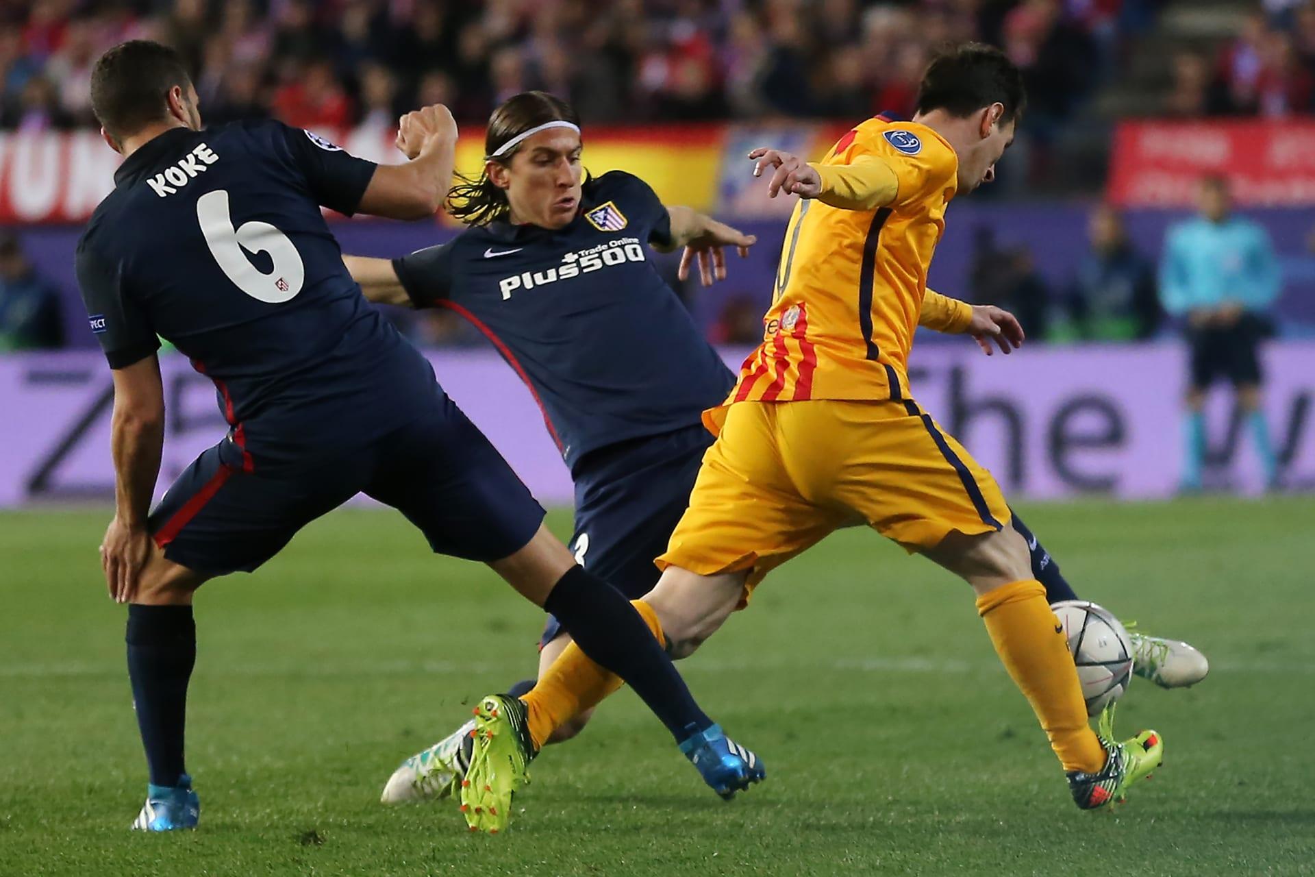 لاعبا أتلتيكو يتحدثان عن إقصاء برشلونة وهزيمة 2014