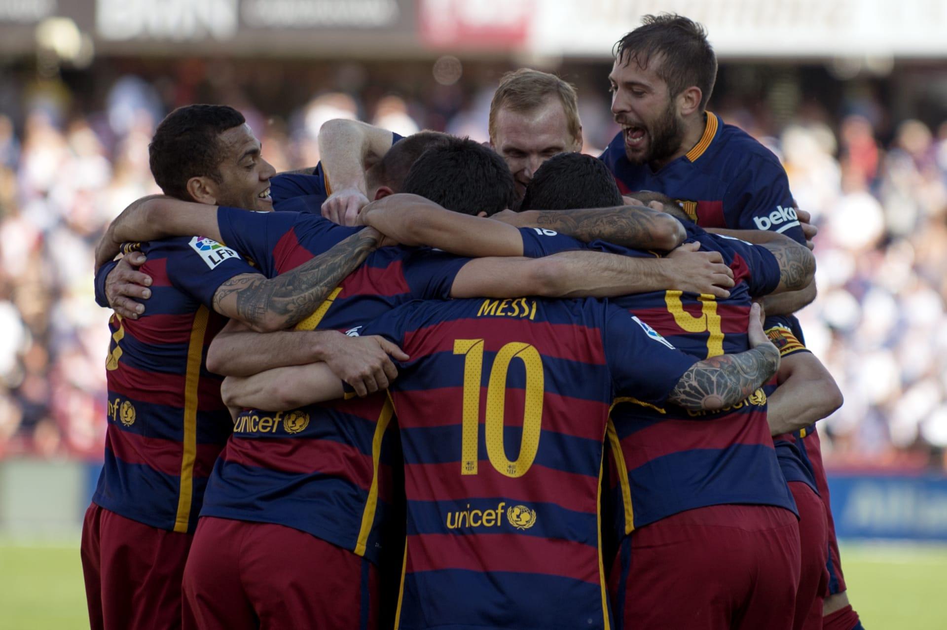 برشلونة بطلا لليغا للمرة الثانية على التوالي