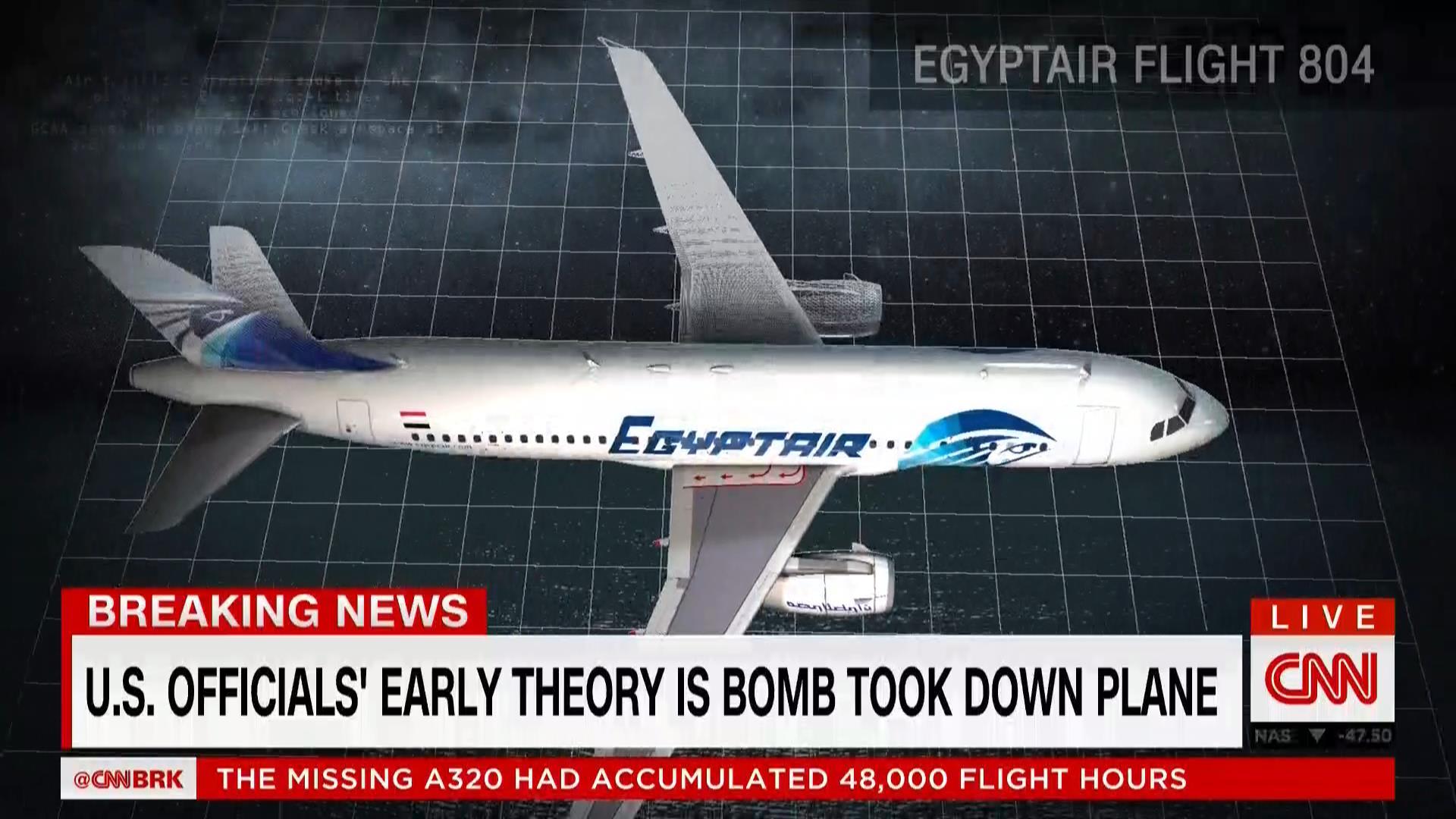 خبراء بالملاحة الجوية لـCNN: هناك 3 احتمالات لتحطم MS804.. والدوران 360 درجة ليس مناورة بحالة الطوارئ