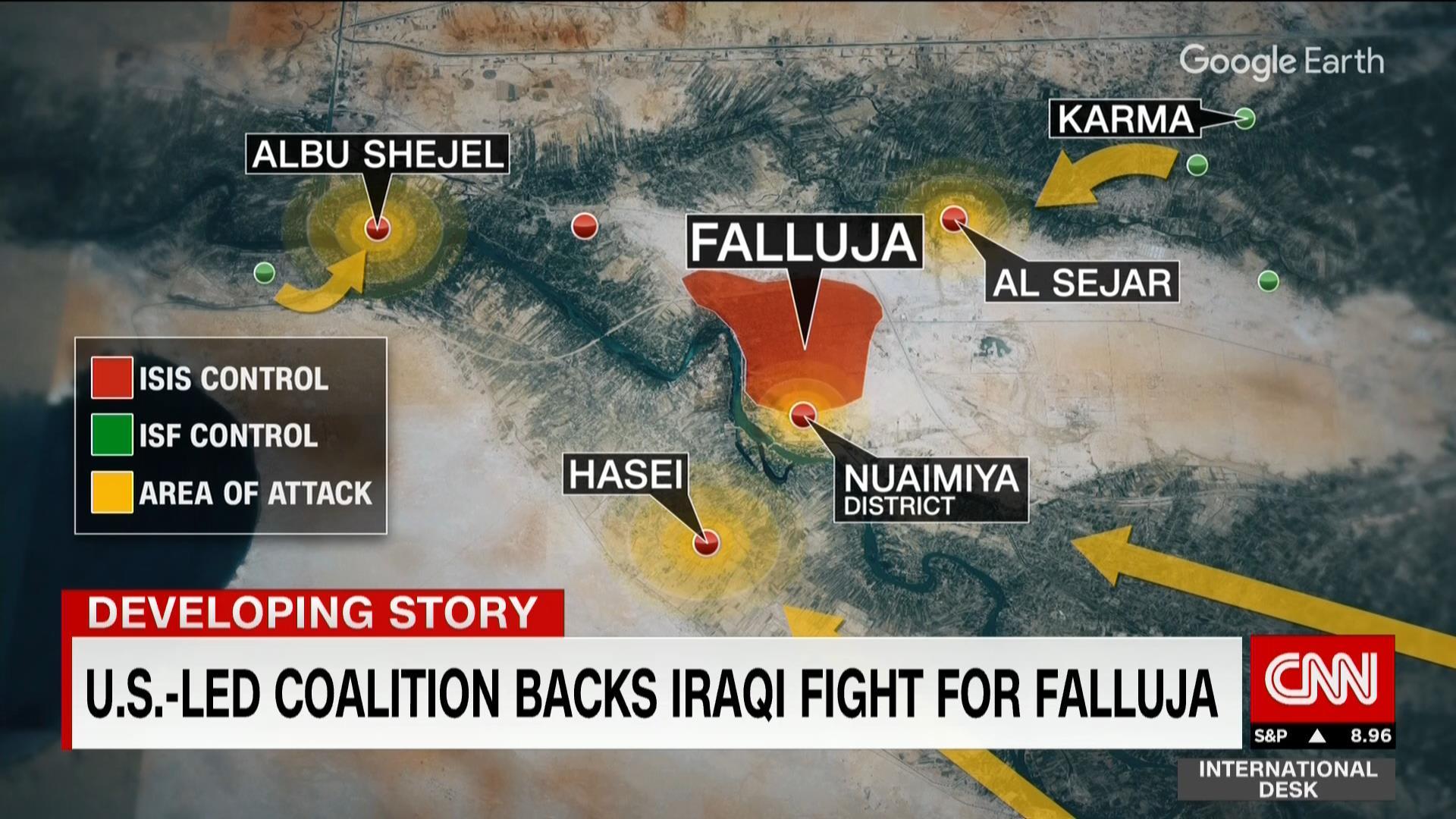 """بالفيديو.. غارات الجيش العراقي الجوية ضد """"داعش"""" بعمليات الفلوجة"""