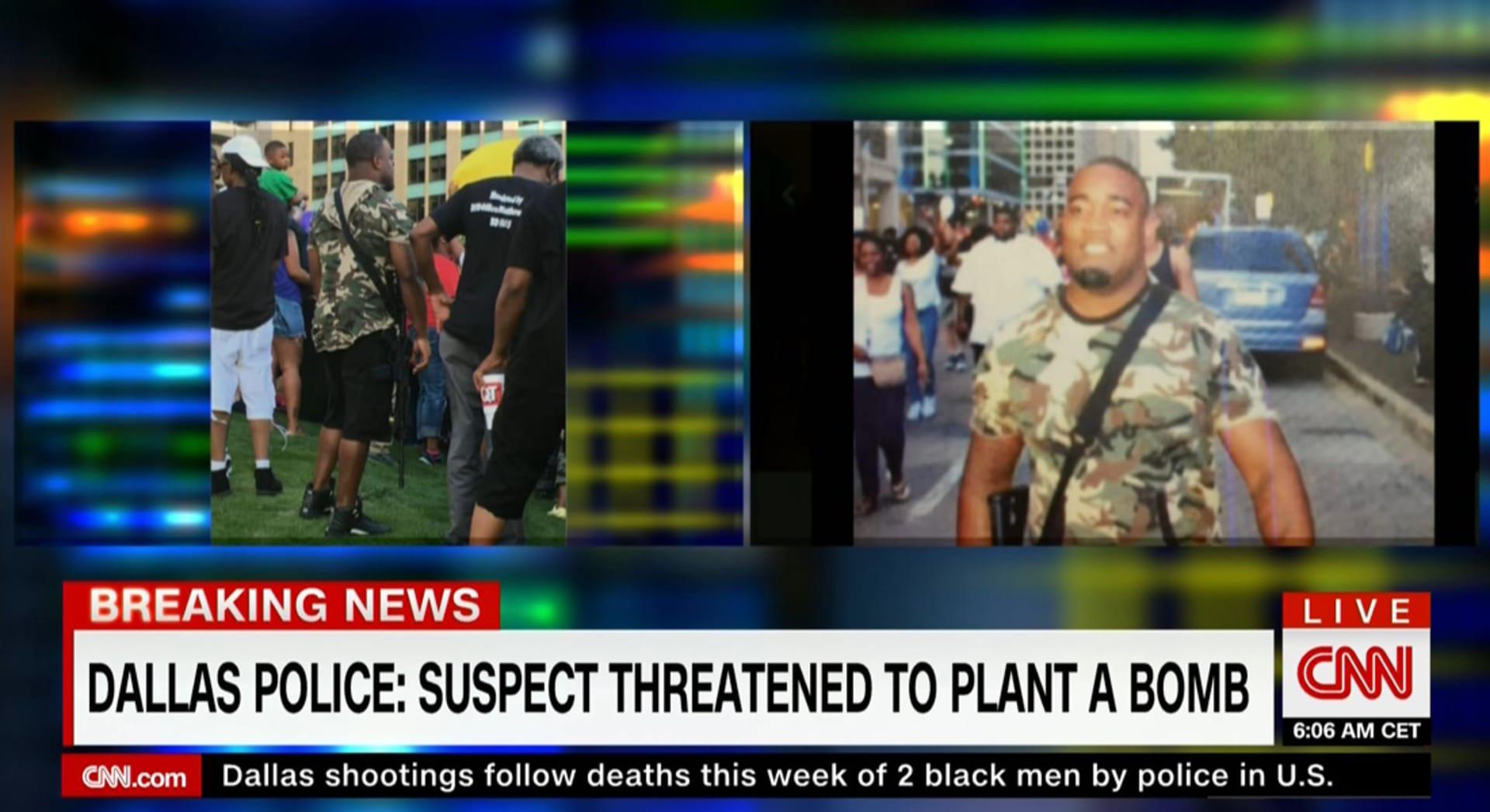 إطلاق النار في دالاس.. السلطات تنشر صورتين لمشتبه به.. وارتفاع حصيلة القتلى لـ4 عناصر بالشرطة