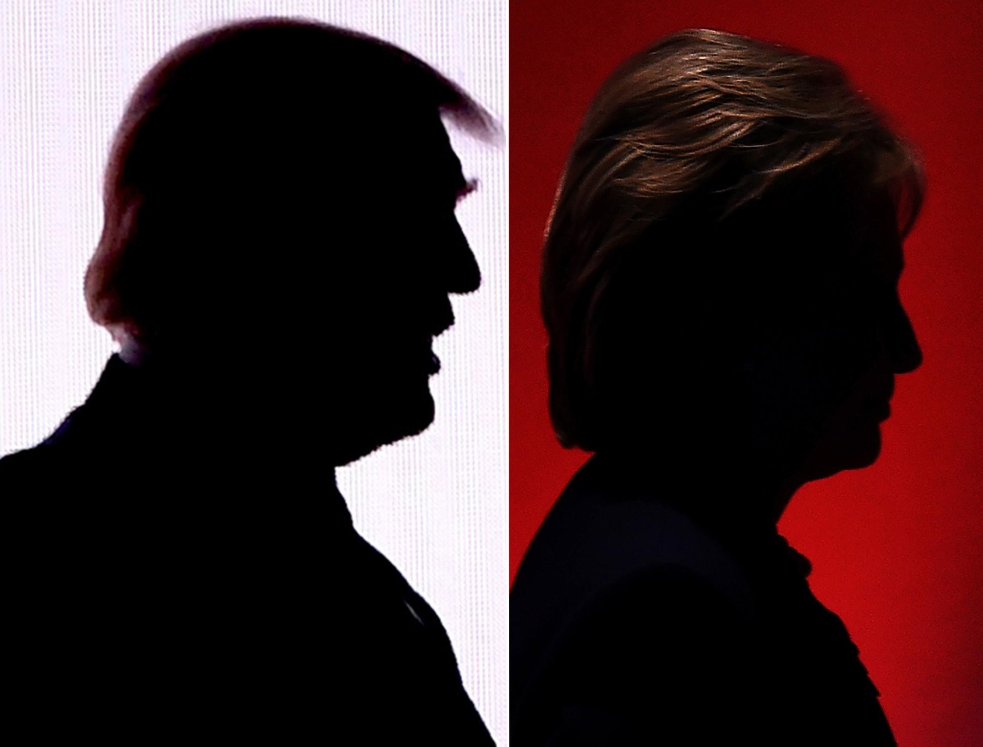 عشية الانتخابات.. استفتاء CNN: كلينتون تتقدم على ترامب بنسبة 3%