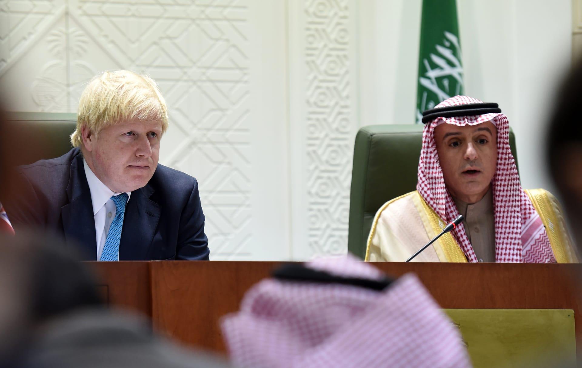 """جونسون يشجع """"الصراحة"""" بين بريطانيا والسعودية.. والجبير: التعليقات التي نُسبت له لا تعكس العلاقات الوثيقة بين الدولتين"""