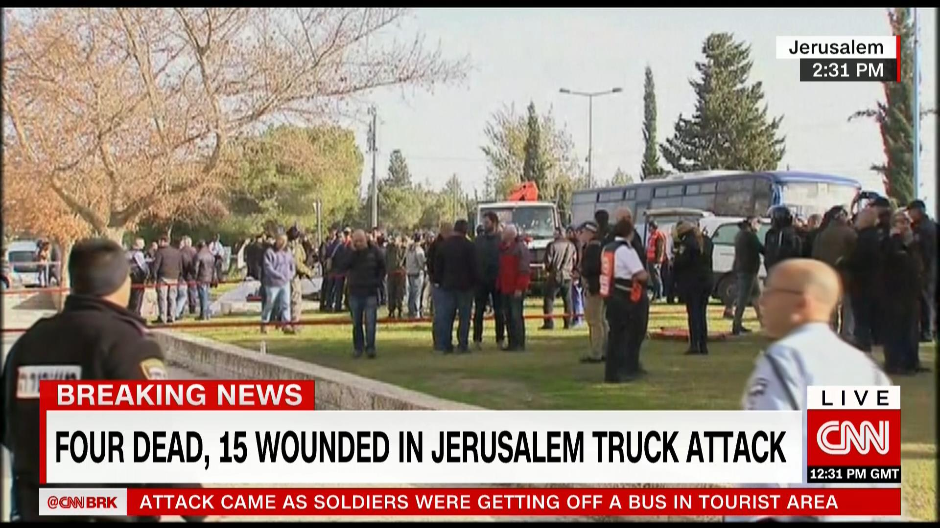 سقوط قتلى وجرحى بهجوم دهس بشاحنة في القدس
