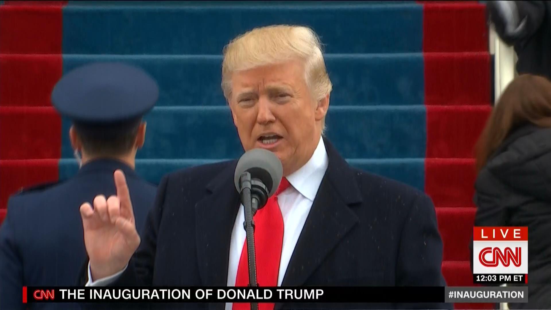 """ترامب في خطاب توليه الرئاسة: سنوّحد العالم ضد """"التطرف الإسلامي"""" وسنزيله من على وجه الأرض"""