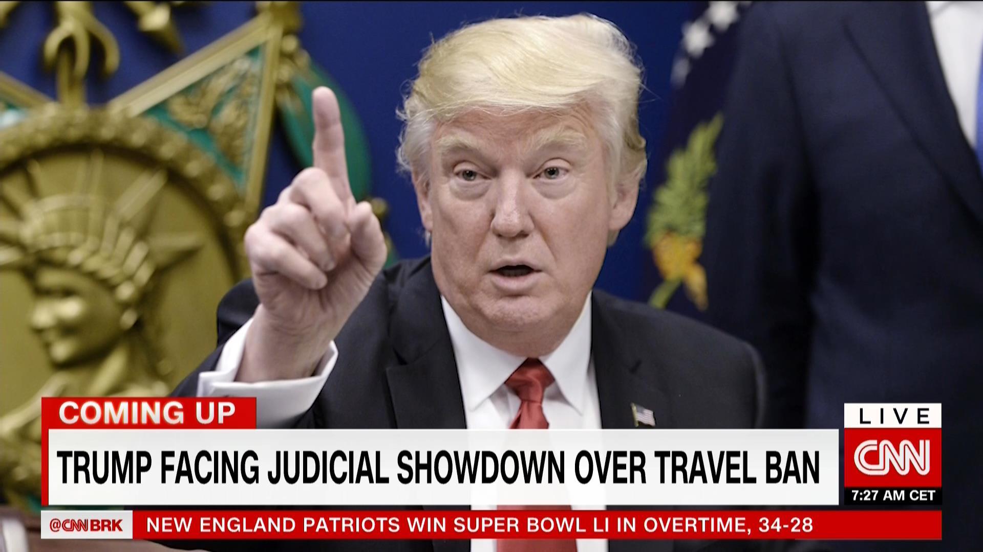 ترامب يجدد هجومه على قاضي تعليق مرسوم الحظر: إن حدث شيء ما ألقوا باللوم عليه