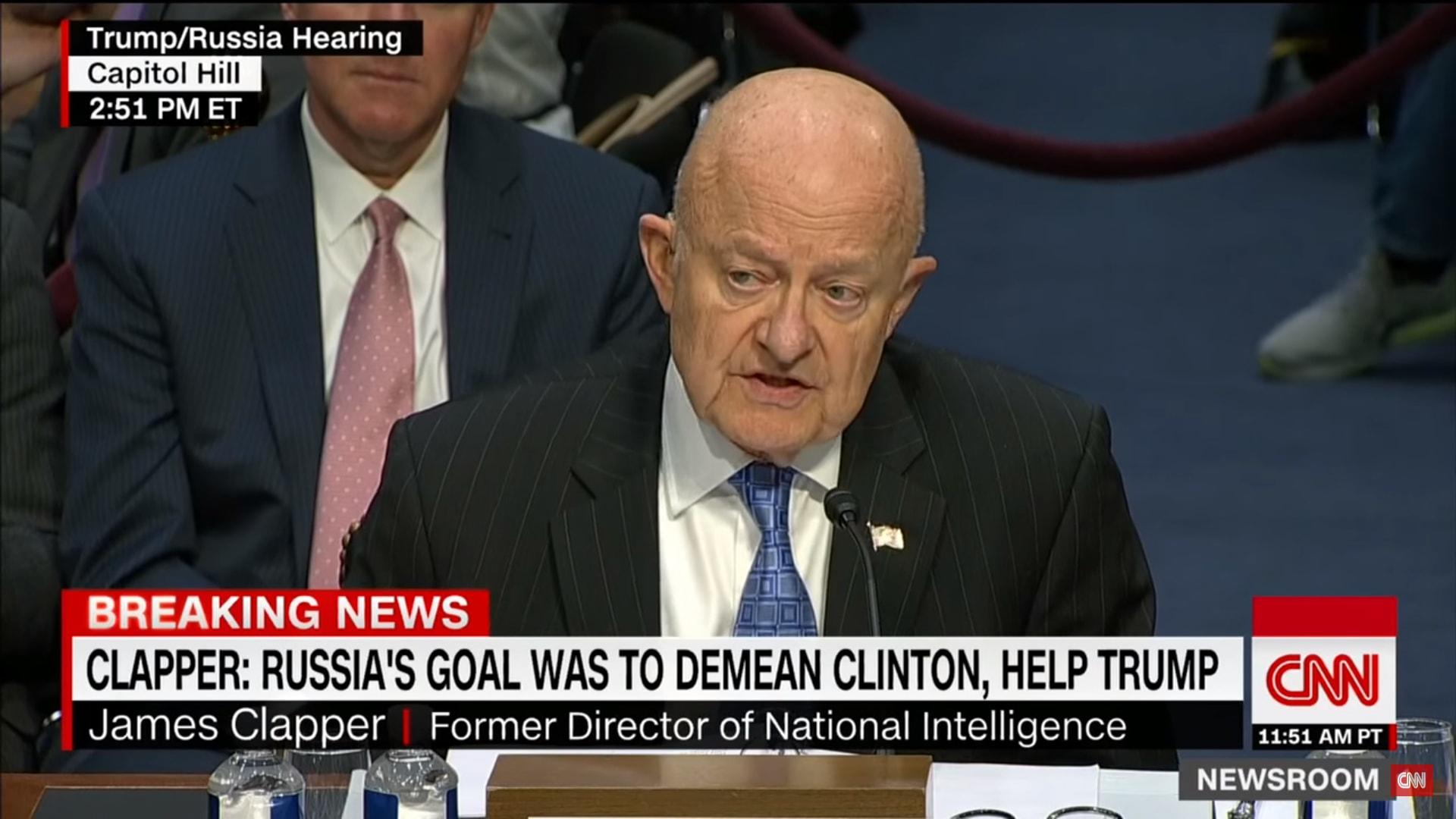 جيمس كلابر: بوتين عمل لتنفيع ترامب وإهانة كلينتون