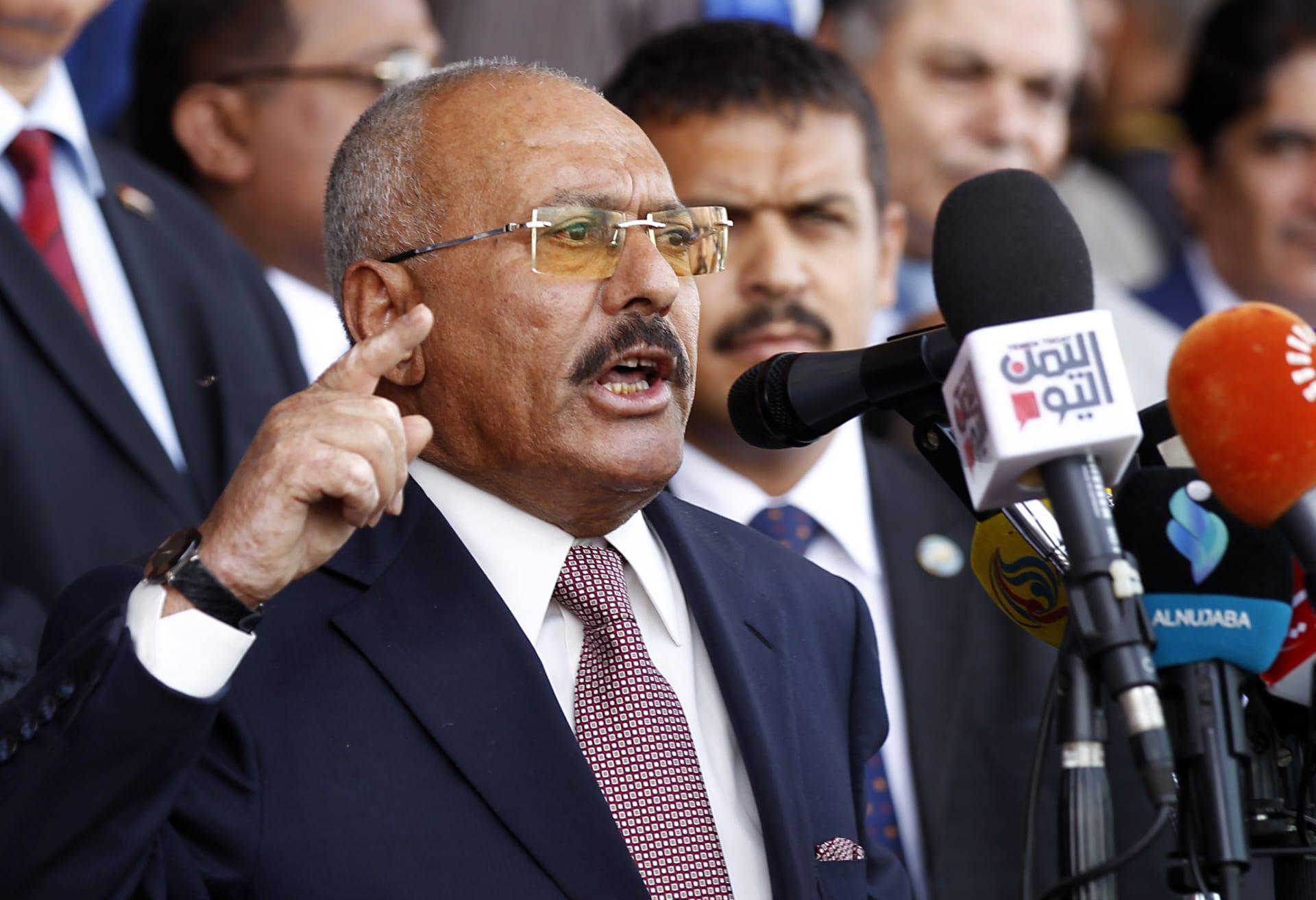 صالح يدعو لانتفاضة شاملة ضد الحوثيين وصفحة جديدة مع الجوار