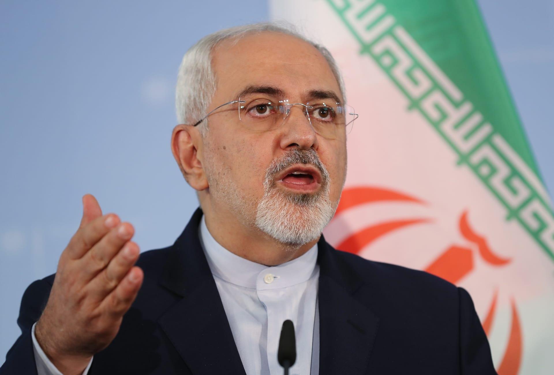 """إيران.. ظريف يلقي باللوم على """"العملاء"""" باللجوء إلى """"العنف والتخريب"""""""