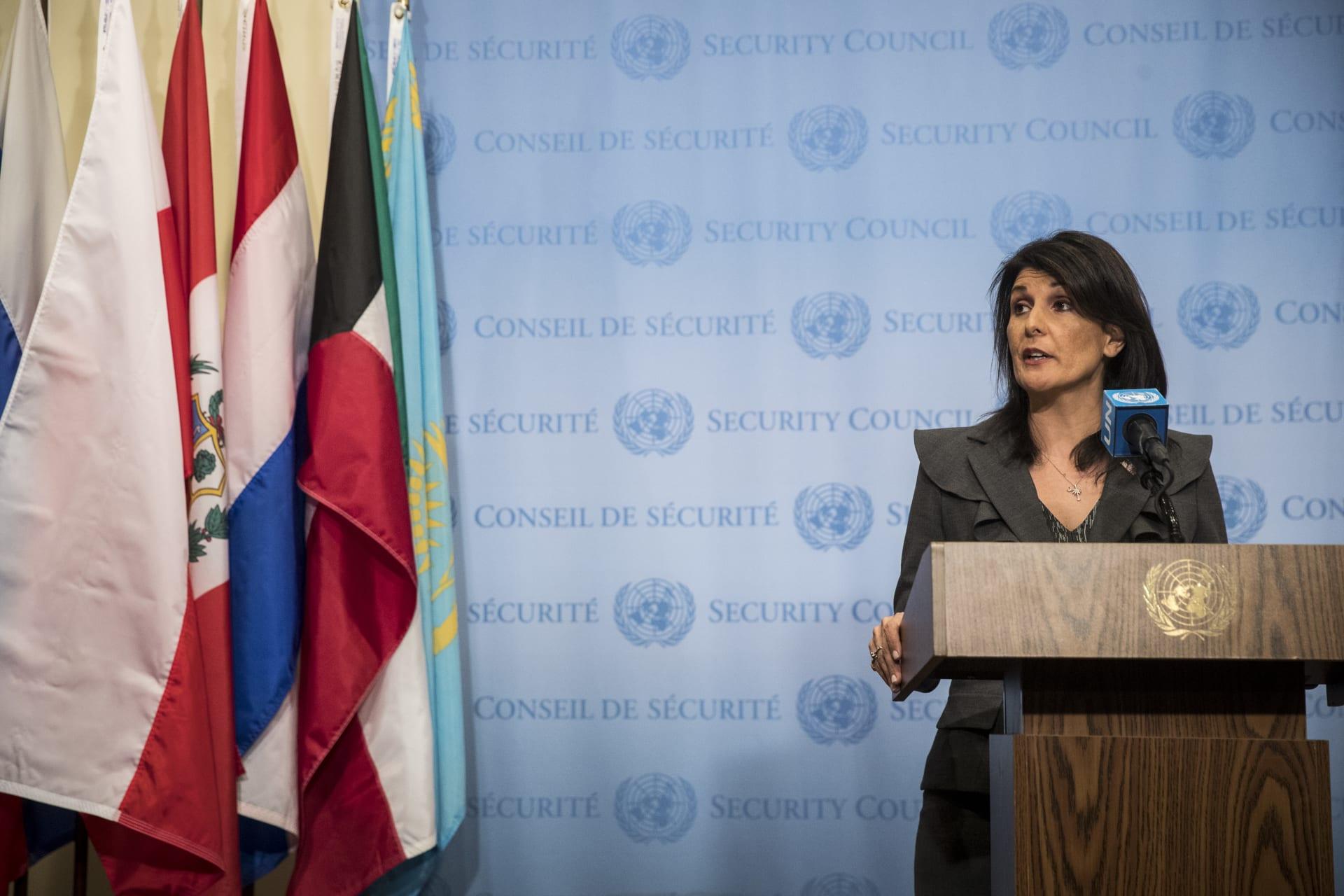 """السفيرة الأمريكية بالأمم المتحدة تحيي """"شجاعة الشعب الإيراني"""".. والبيت الأبيض: """"ستنتهي الاحتجاجات بانتهاء رعاية إيران للإرهاب"""""""