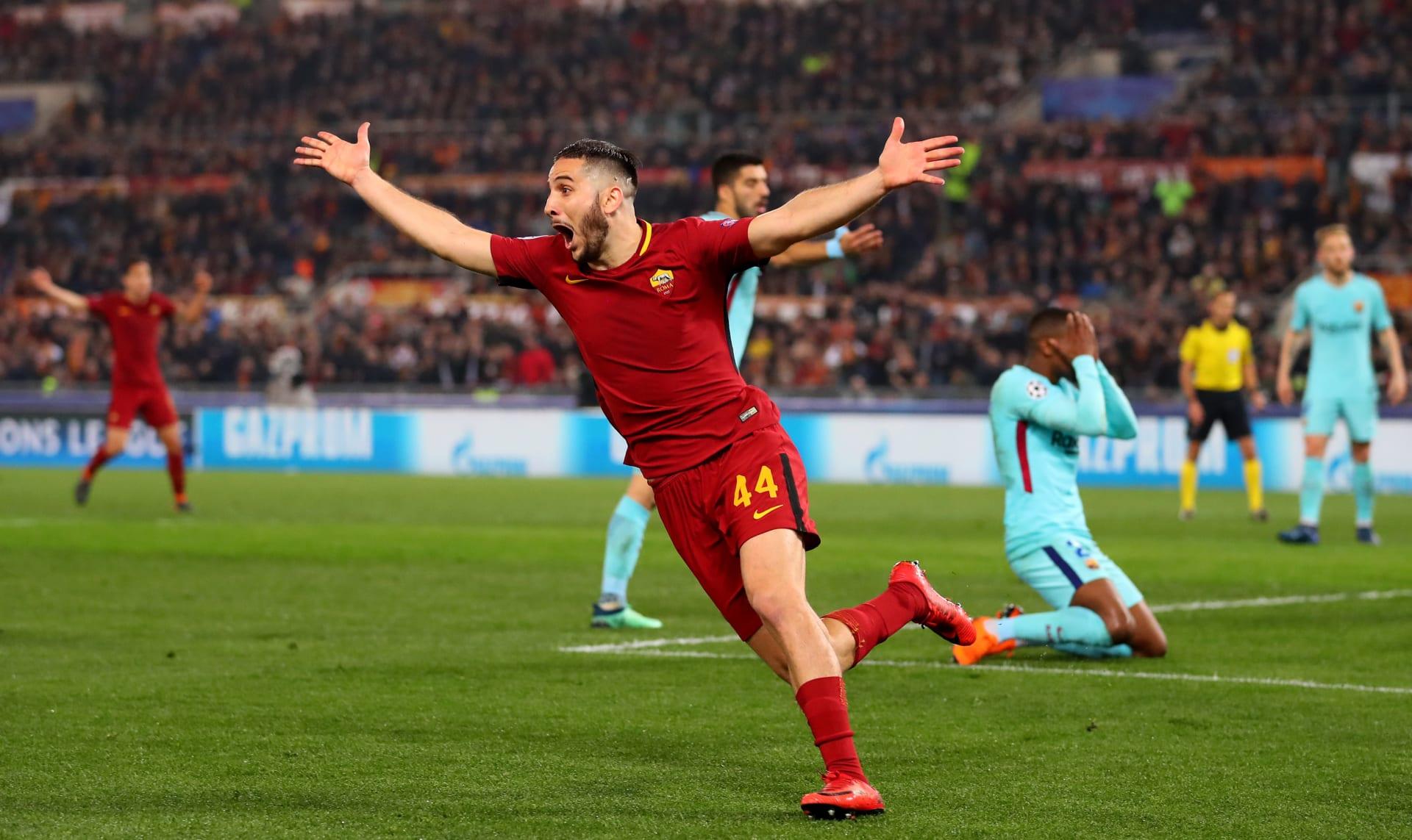 """ثورة روما تقصي برشلونة """"اليائس"""" وليفربول يعبر عقبة السيتي"""