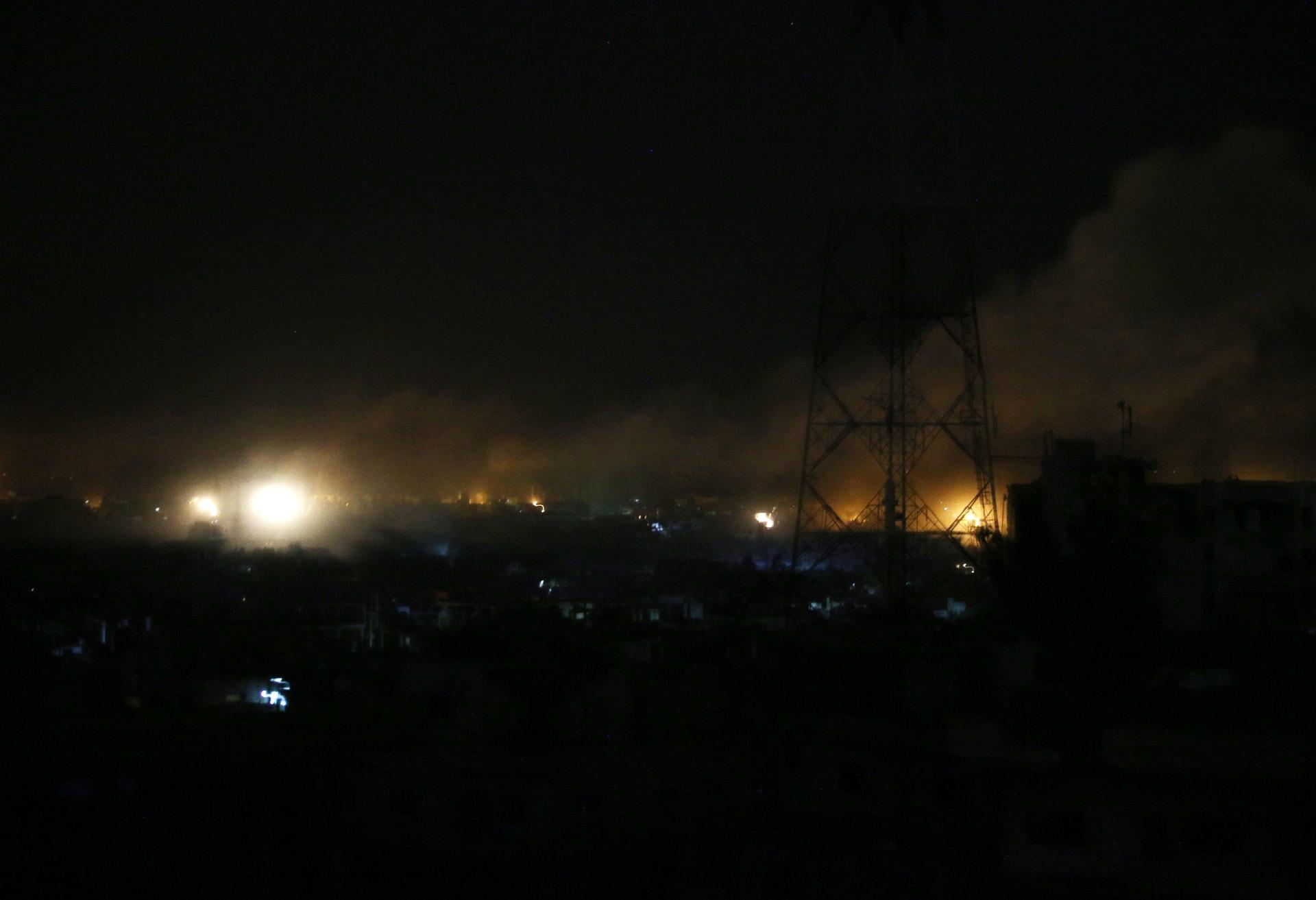 مصدر عسكري سوري: الدفاعات الجوية تتصدى لصاروخين إسرائيليين