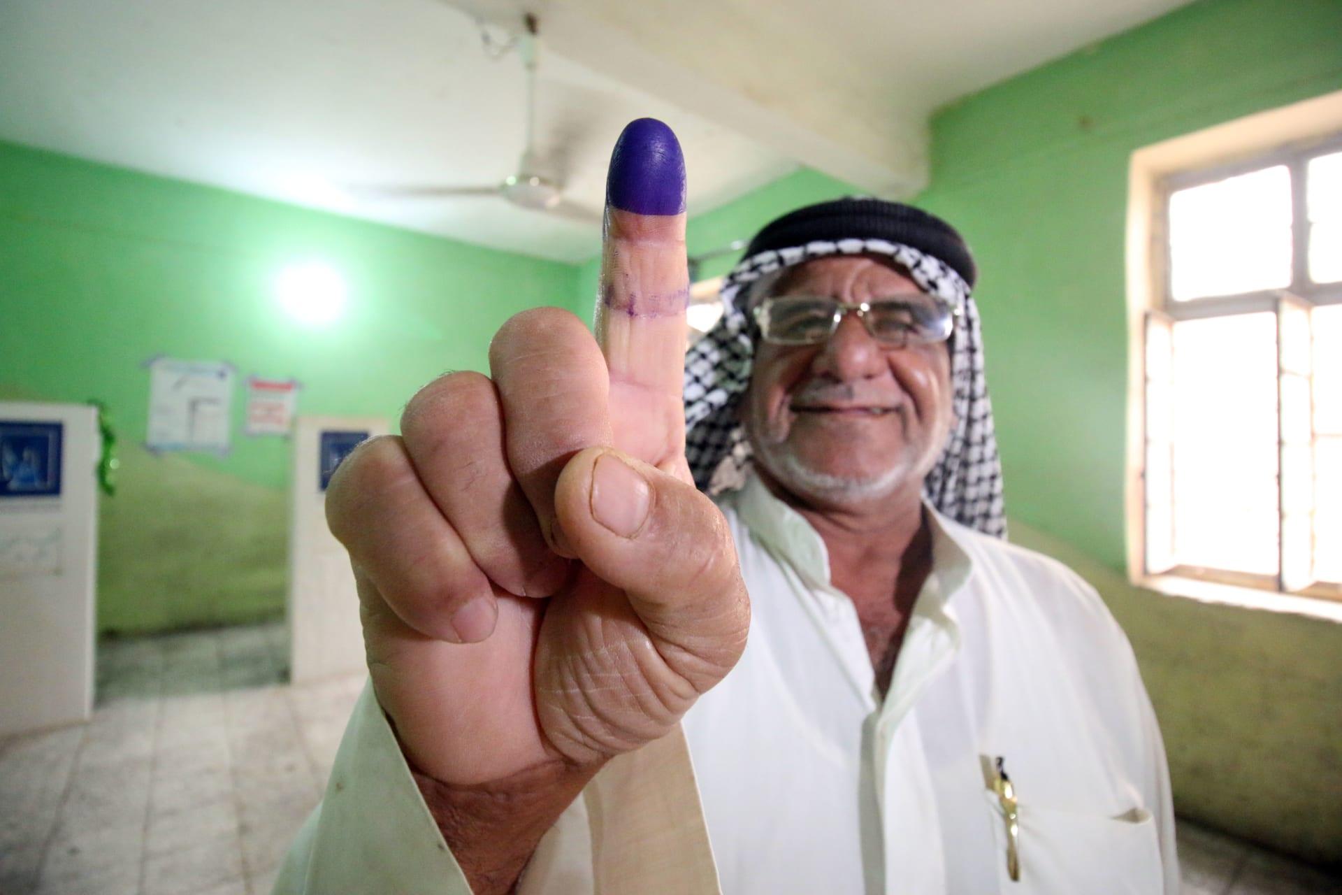 العراق: نسبة المشاركة في الانتخابات وصلت إلى 44.5 في المائة