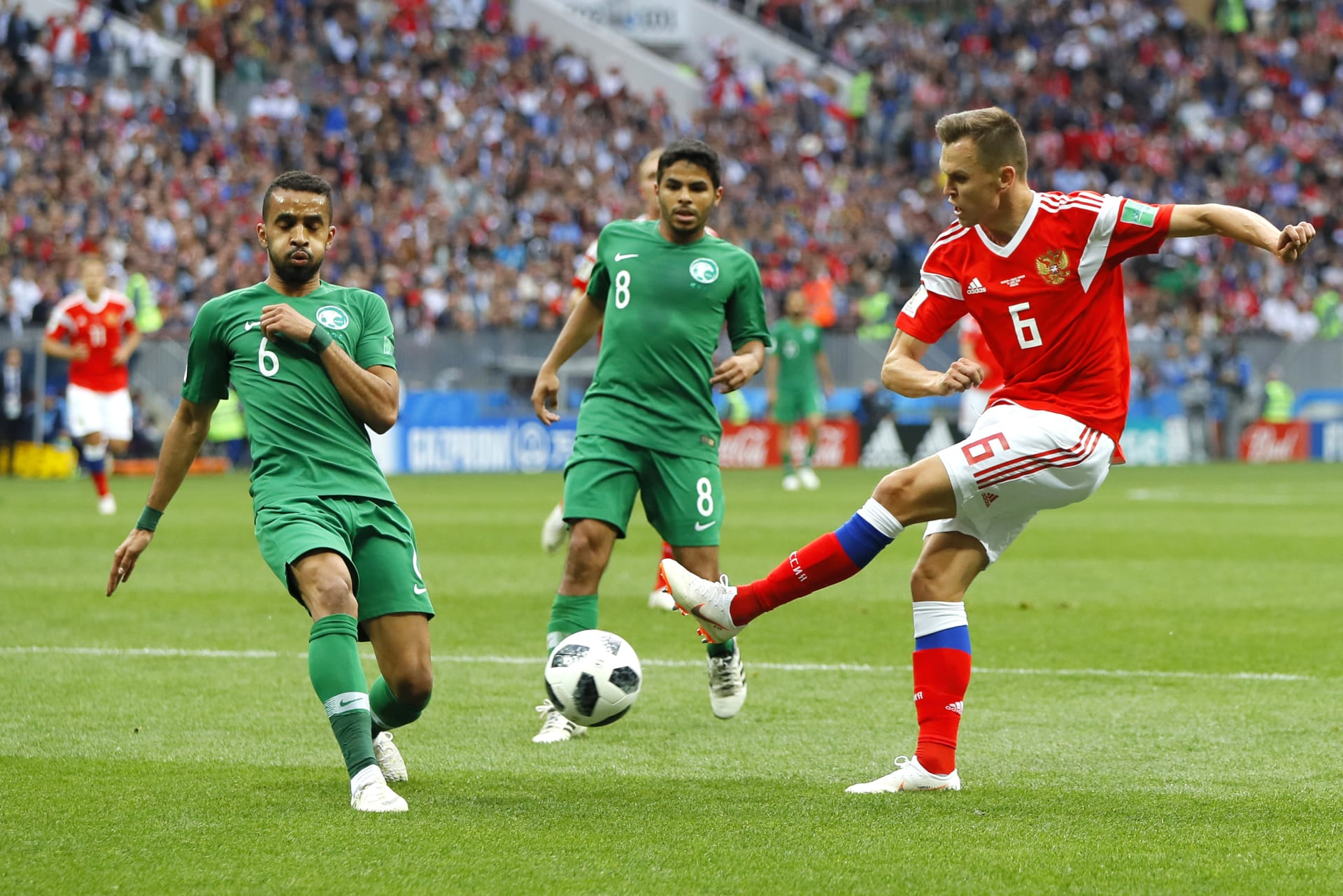 نتيجة صادمة.. السعودية تخسر أمام روسيا بافتتاح كأس العالم 2018