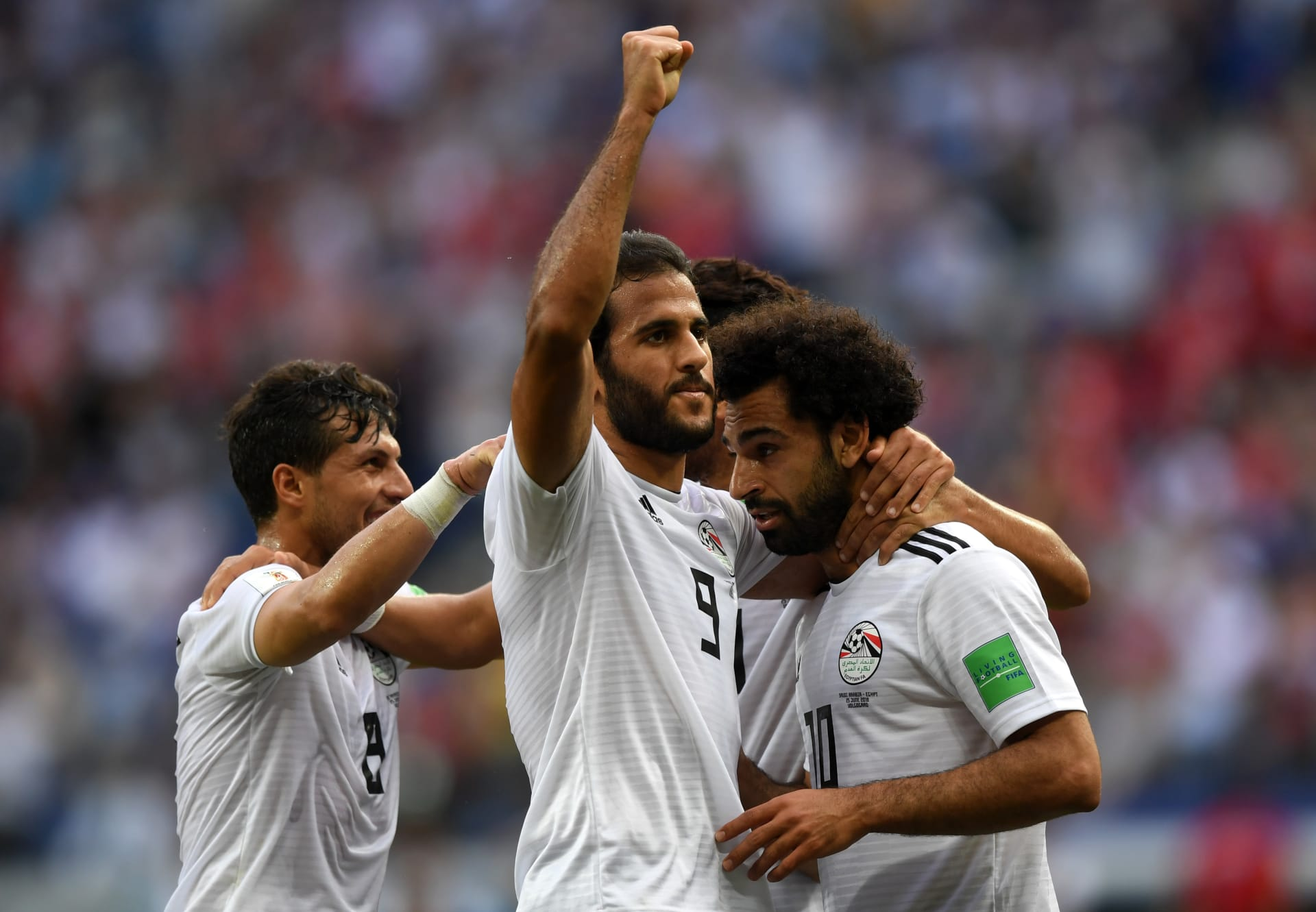 محمد صلاح يسجل أول أهداف مصر في مرمى السعودية