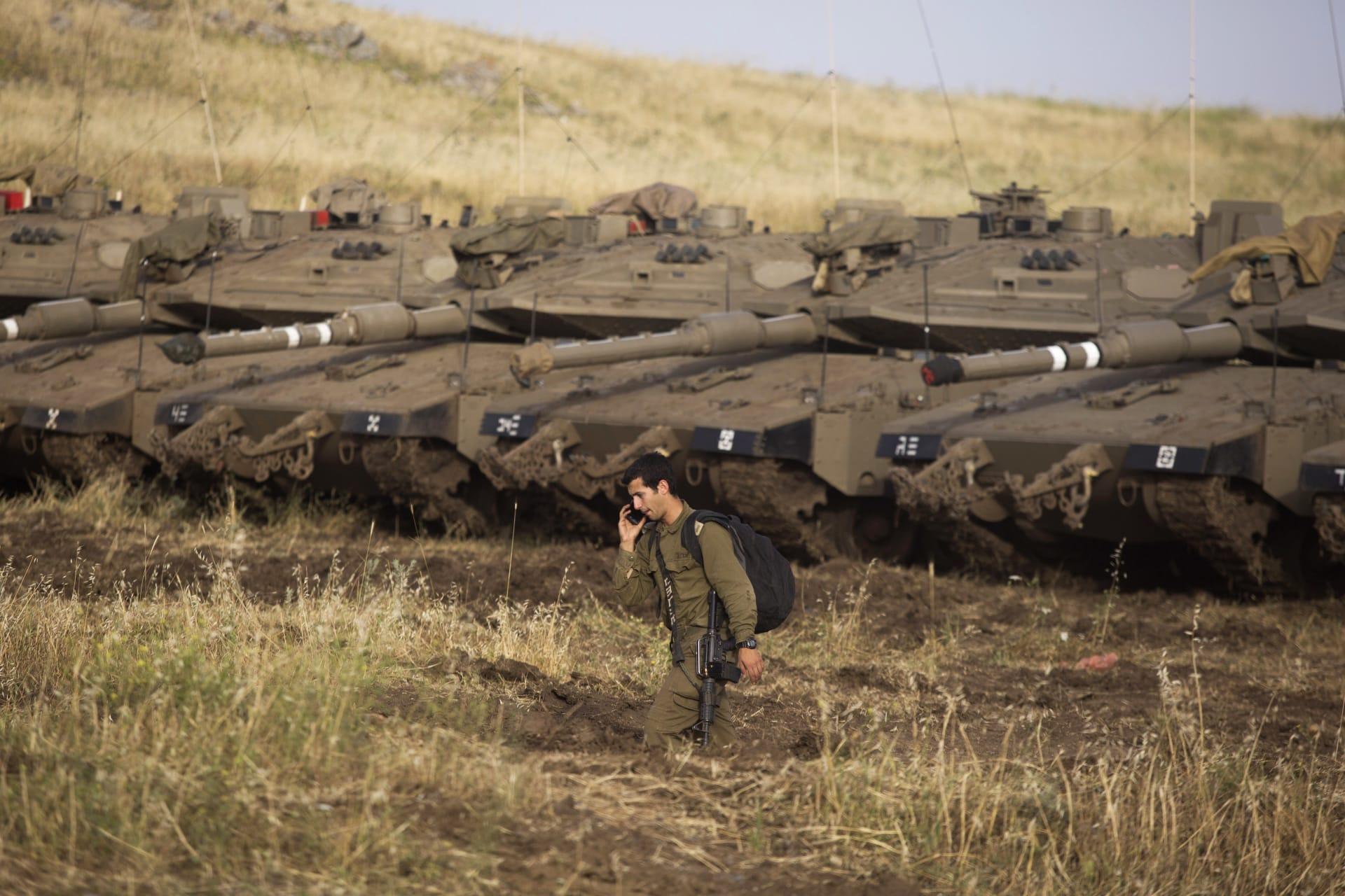 الجيش الإسرائيلي يعلن إرسال تعزيزات عسكرية إلى مرتفعات الجولان