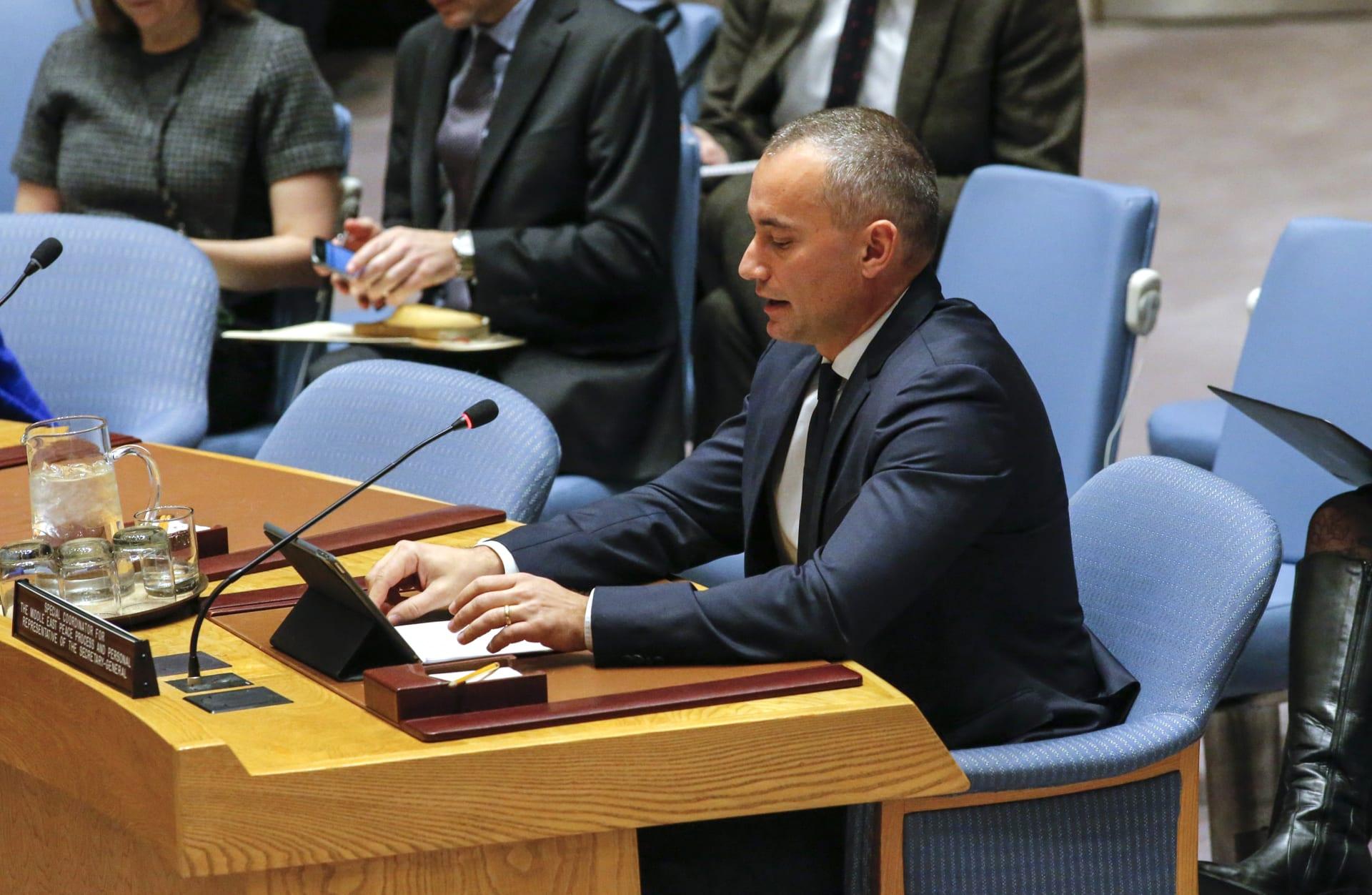 نيكولاي ميلادينوف: ندعم جهود الحكومة الفلسطينية من أجل تحمل مسؤولياتها في غزة