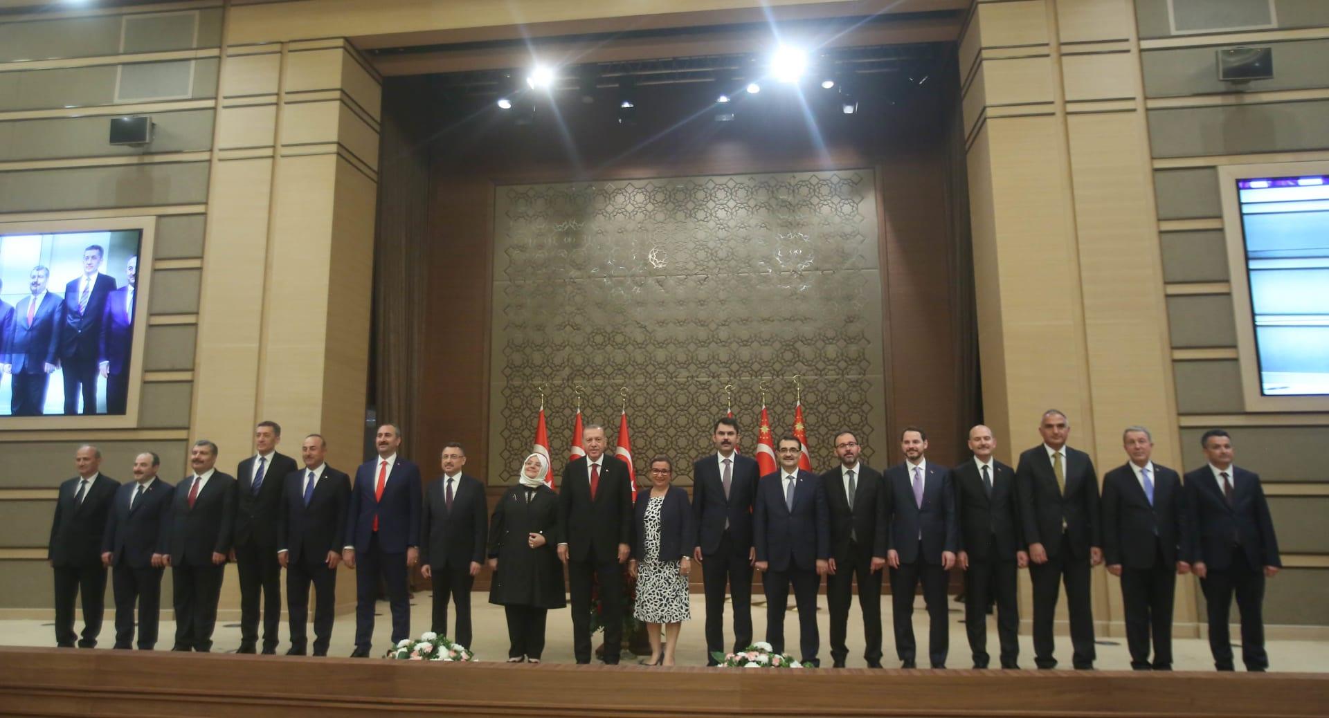 إردوغان يعلن عن الحكومة الجديدة ويعين صهره وزيرا للمالية