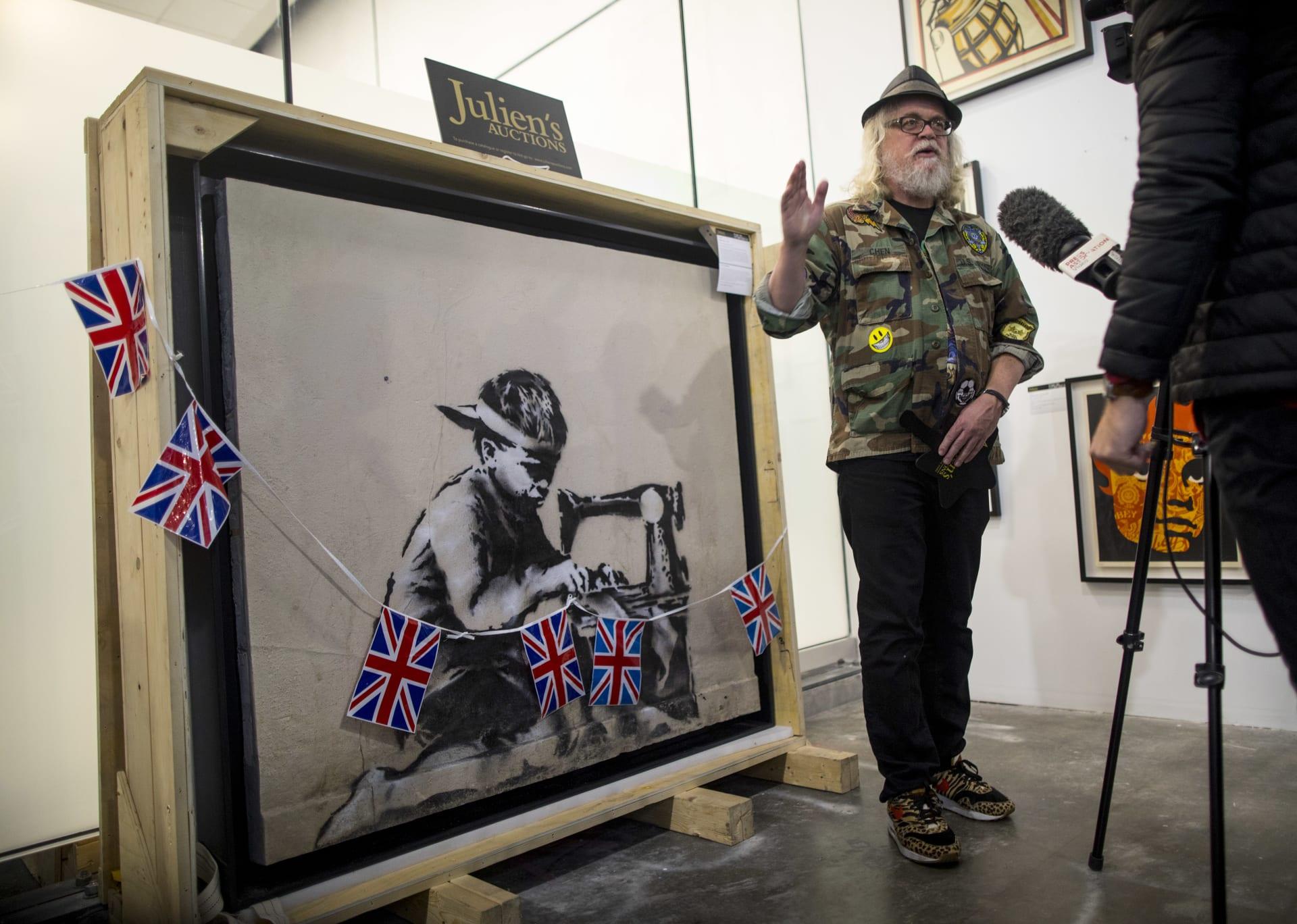 فنان يخطط لتدمير لوحة لبانكسي بعد شرائها مقابل 730 ألف دولار