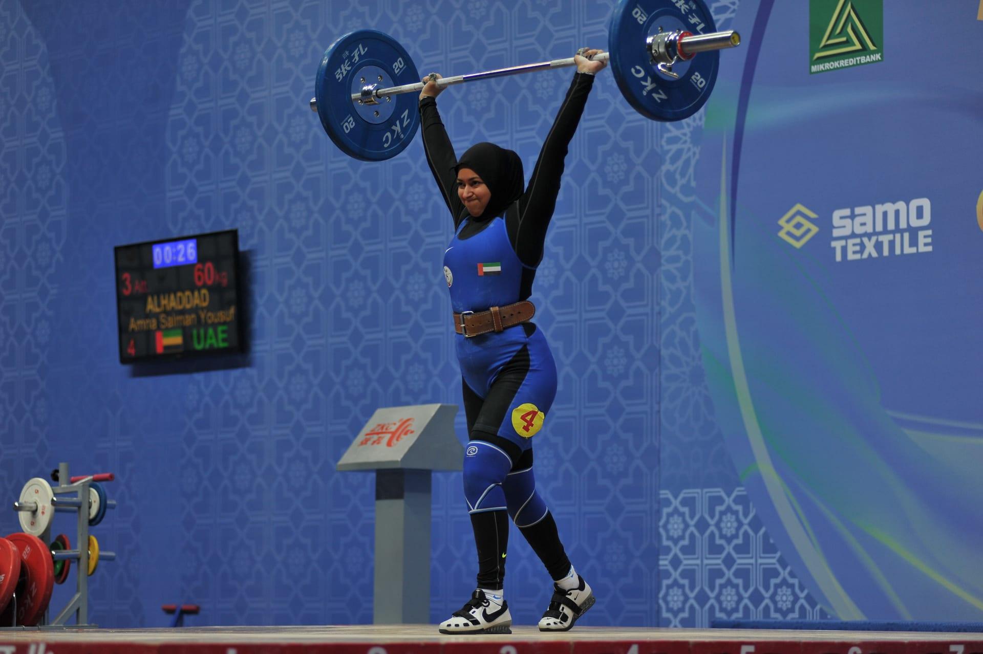 أنقذت الرياضة حياتها.. تعرف إلى رافعة الأثقال الإماراتية آمنة الحداد
