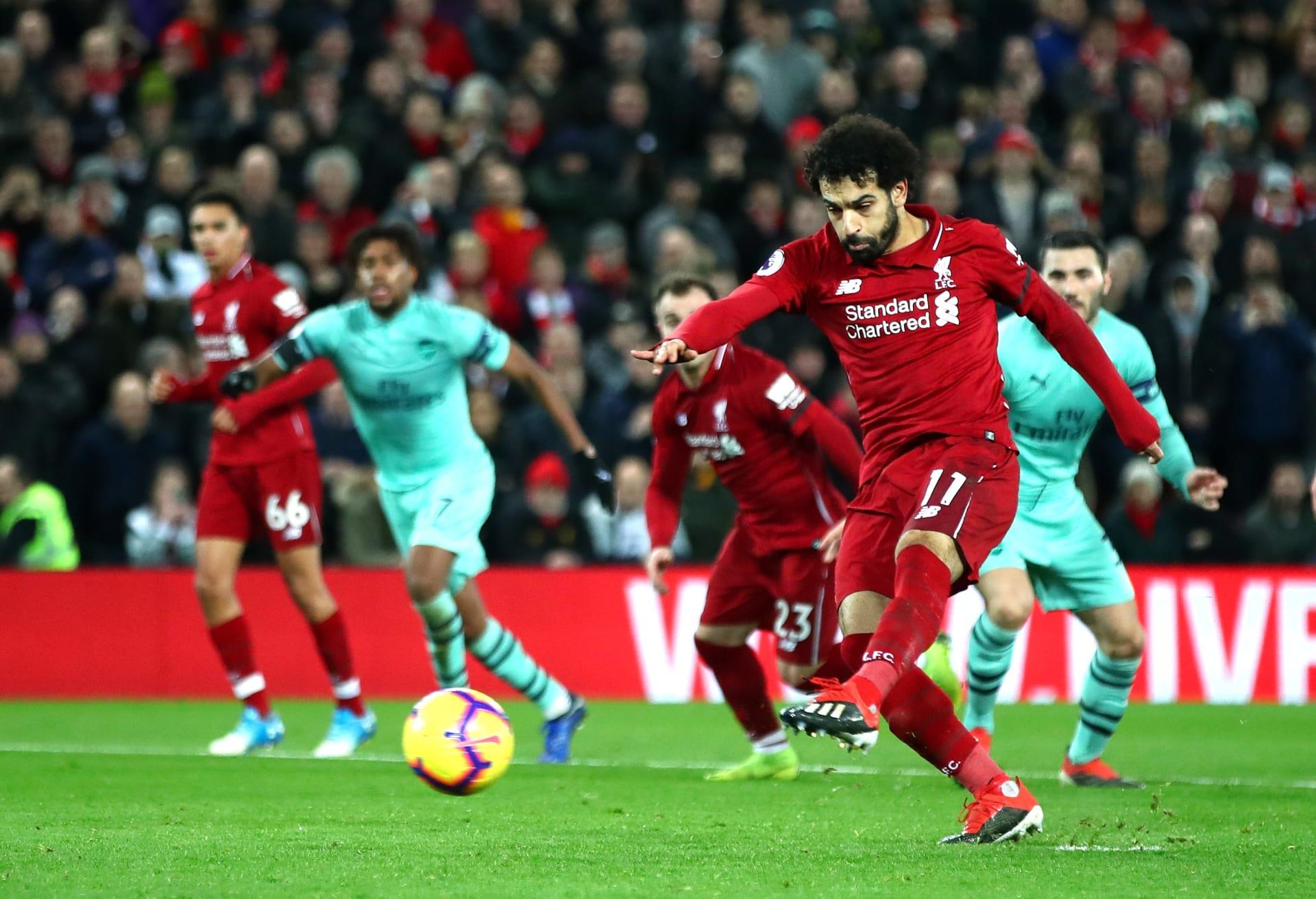 بخماسية في أرسنال.. ليفربول يودع 2018 منفردا بصدارة الدوري