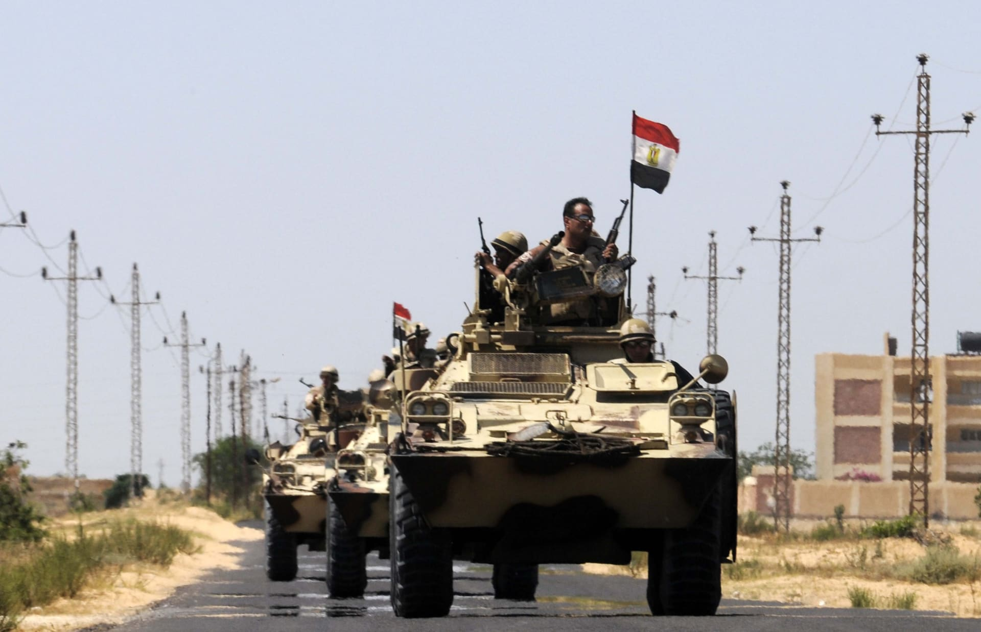 الجيش المصري يعلن مقتل 59 إرهابيا و7 من عناصره