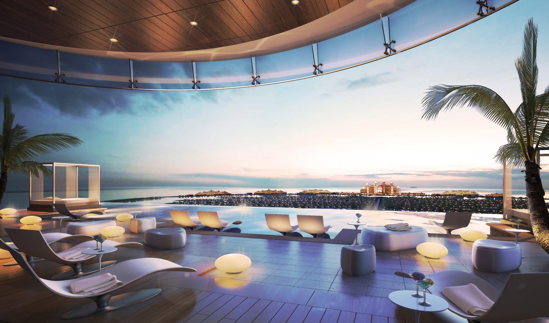 من أعلى البرج.. كيف يبدو هذا المسبح اللامتناهي في دبي؟