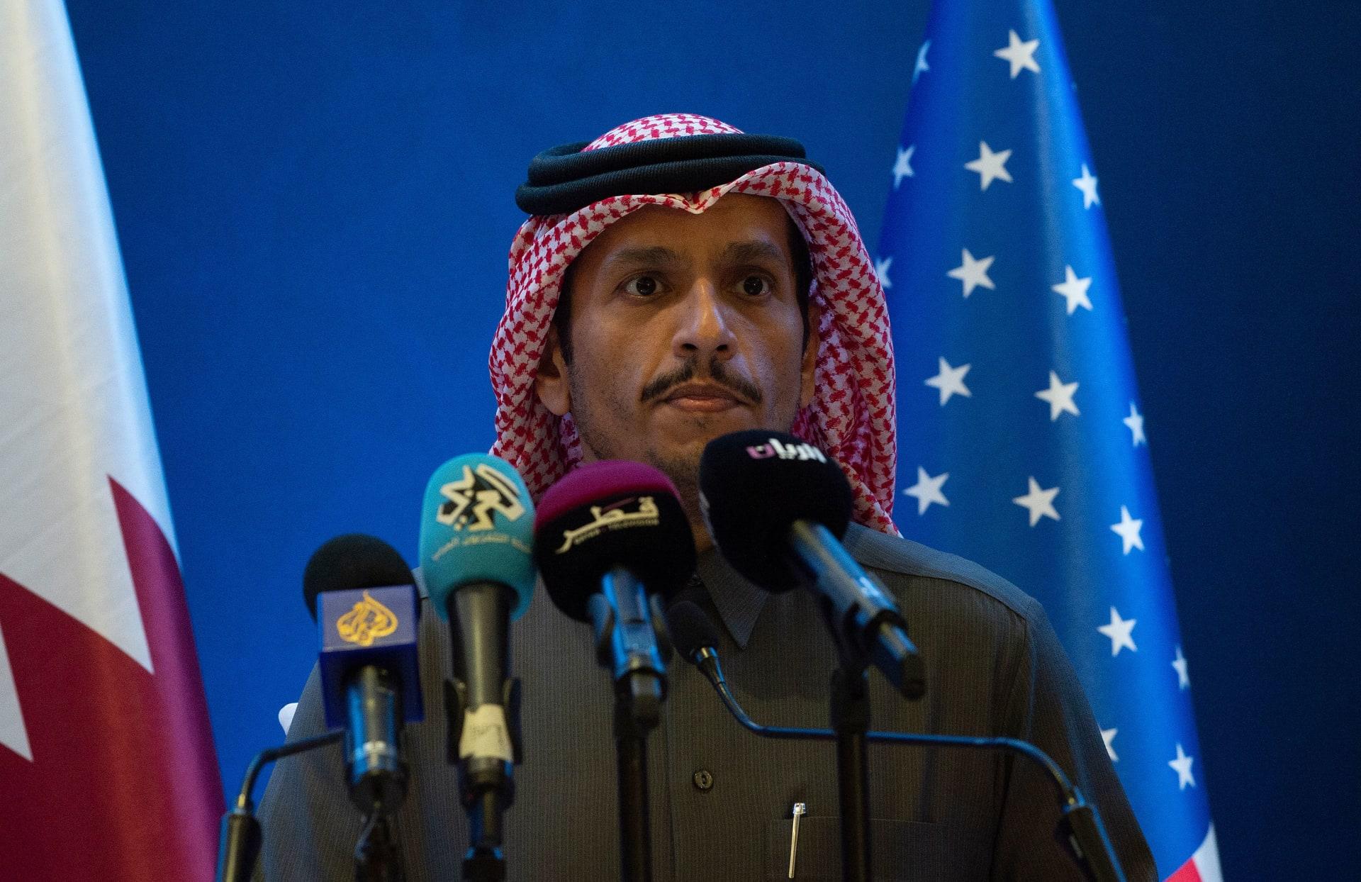 """وزير خارجية قطر: لا حل في الأفق للأزمة الخليجية ويجب فتح حوار """"إيجابي"""" مع إيران"""