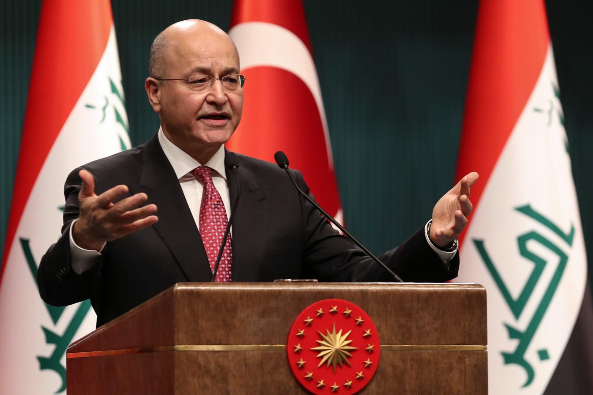 الرئيس العراقي يرد على قرار ترامب بشأن بقاء القوات الأمريكية في بلاده