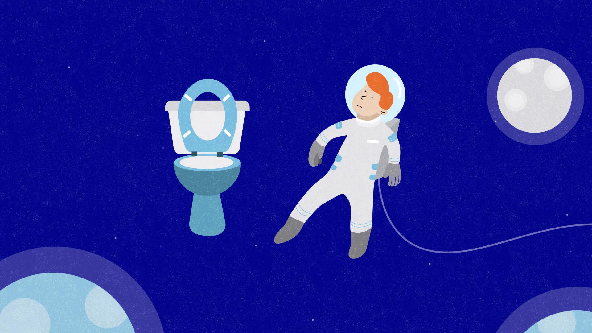 """هل سألت نفسك أين """"يقضي رواد الفضاء حاجتهم""""؟ إليك الجواب"""