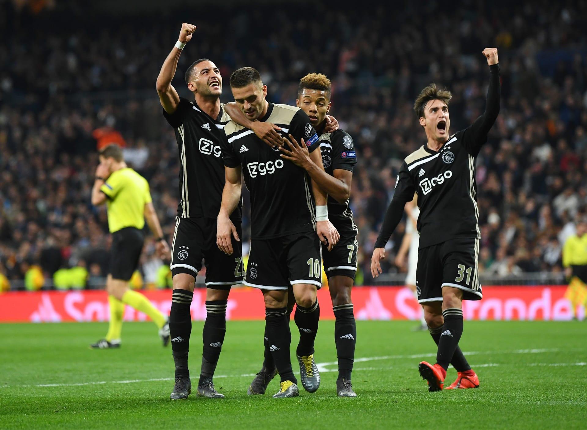 أياكس يستحضر التاريخ ويقصي ريال مدريد من دوري أبطال أوروبا
