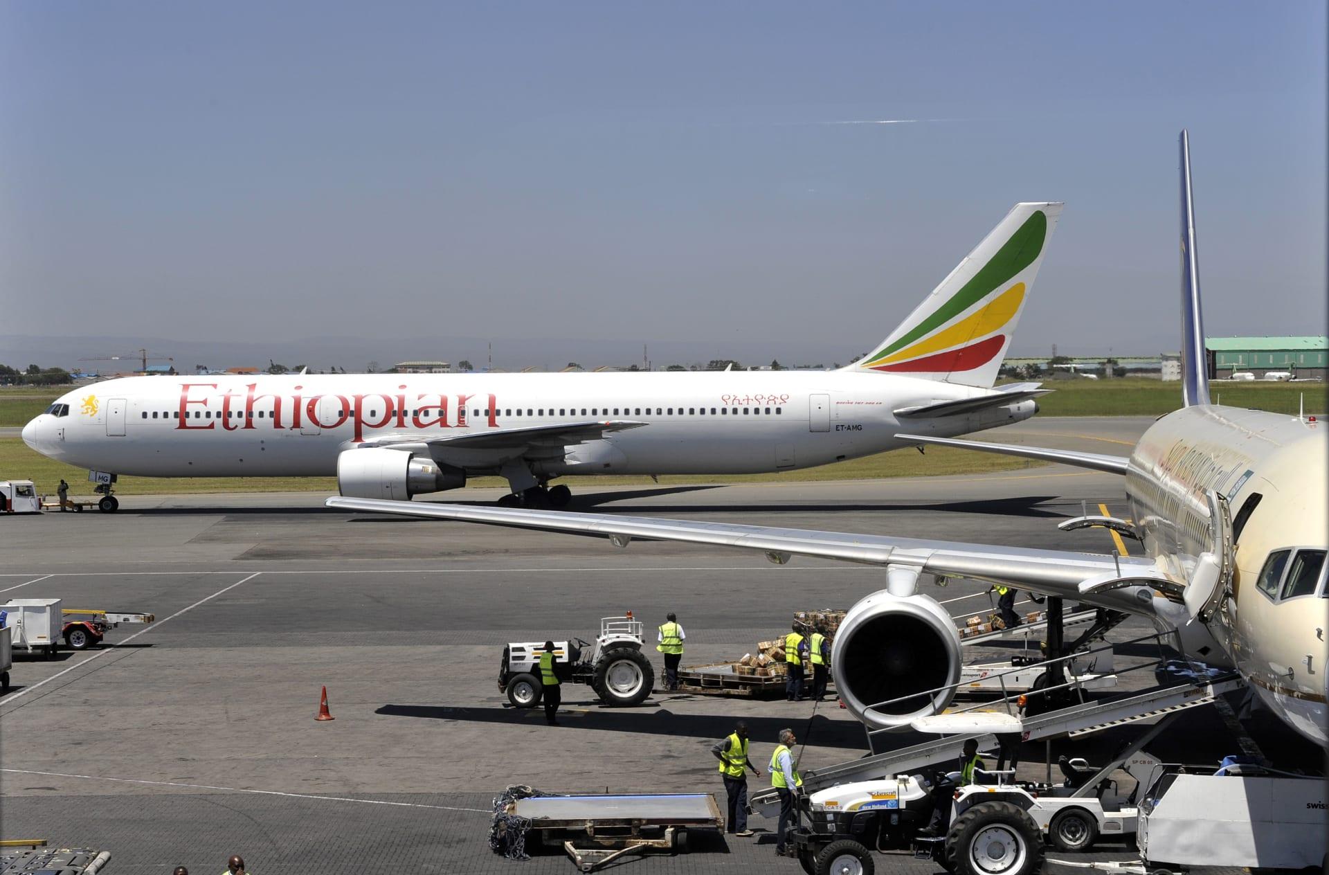 تحطم طائرة تابعة للخطوط الجوية الإثيوبية من طراز بوينغ 737