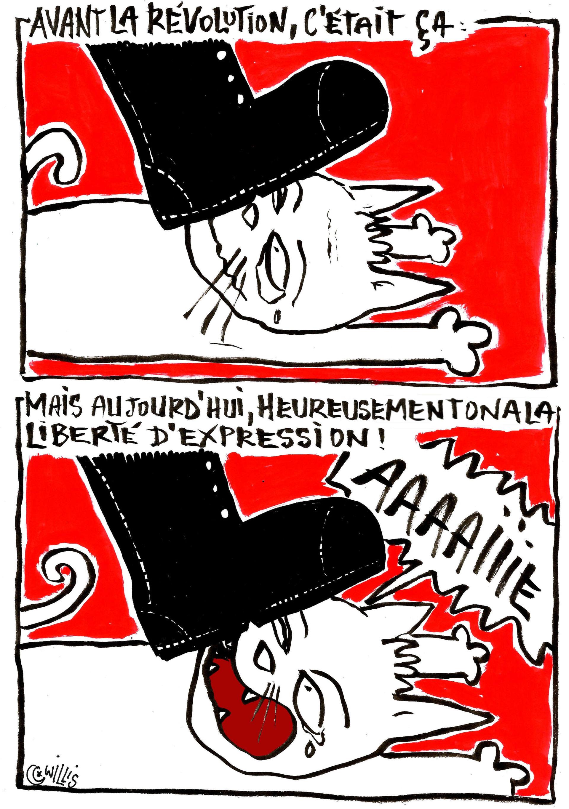 """القط ويليس يحدث جمهوره """"بجراءة"""" عن حياة الشارع التونسي بهذه الرسوم"""